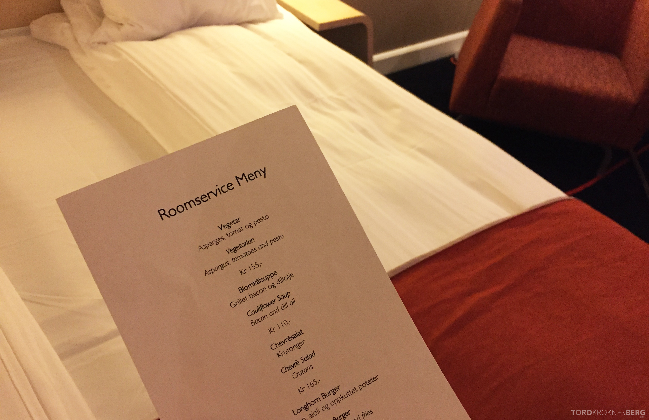 Radisson Blu Airport Hotel Trondheim room service