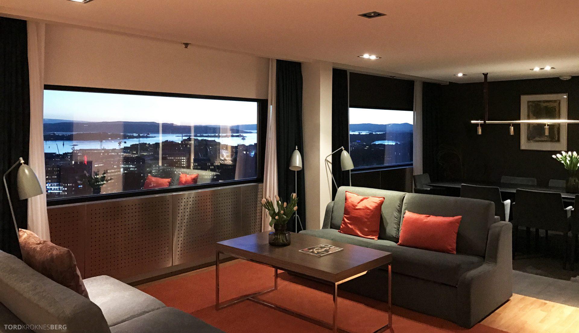 Radisson Blu Scandinavia Hotel suite utsikt stue