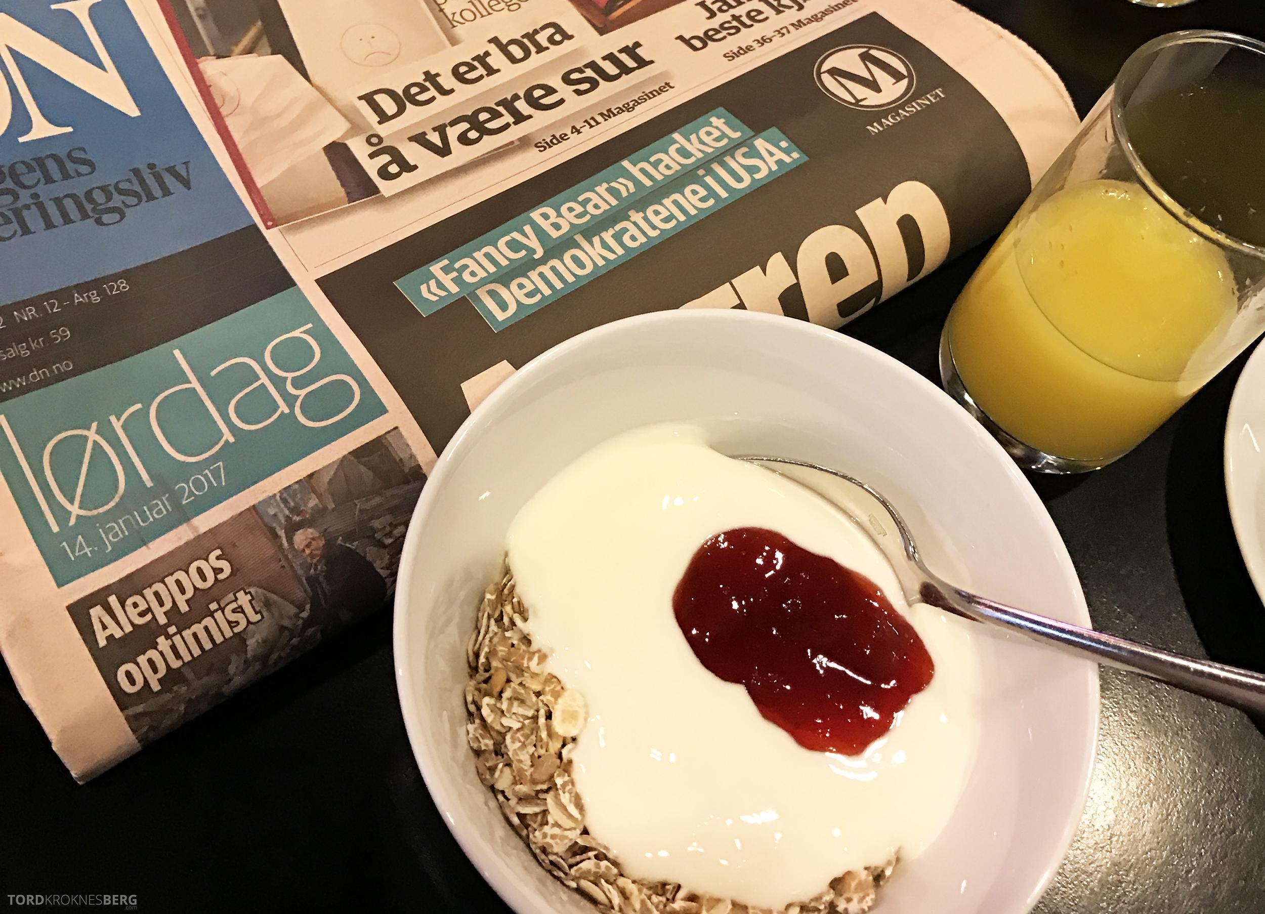 Radisson Blu Scandinavia Hotel enkel frokost