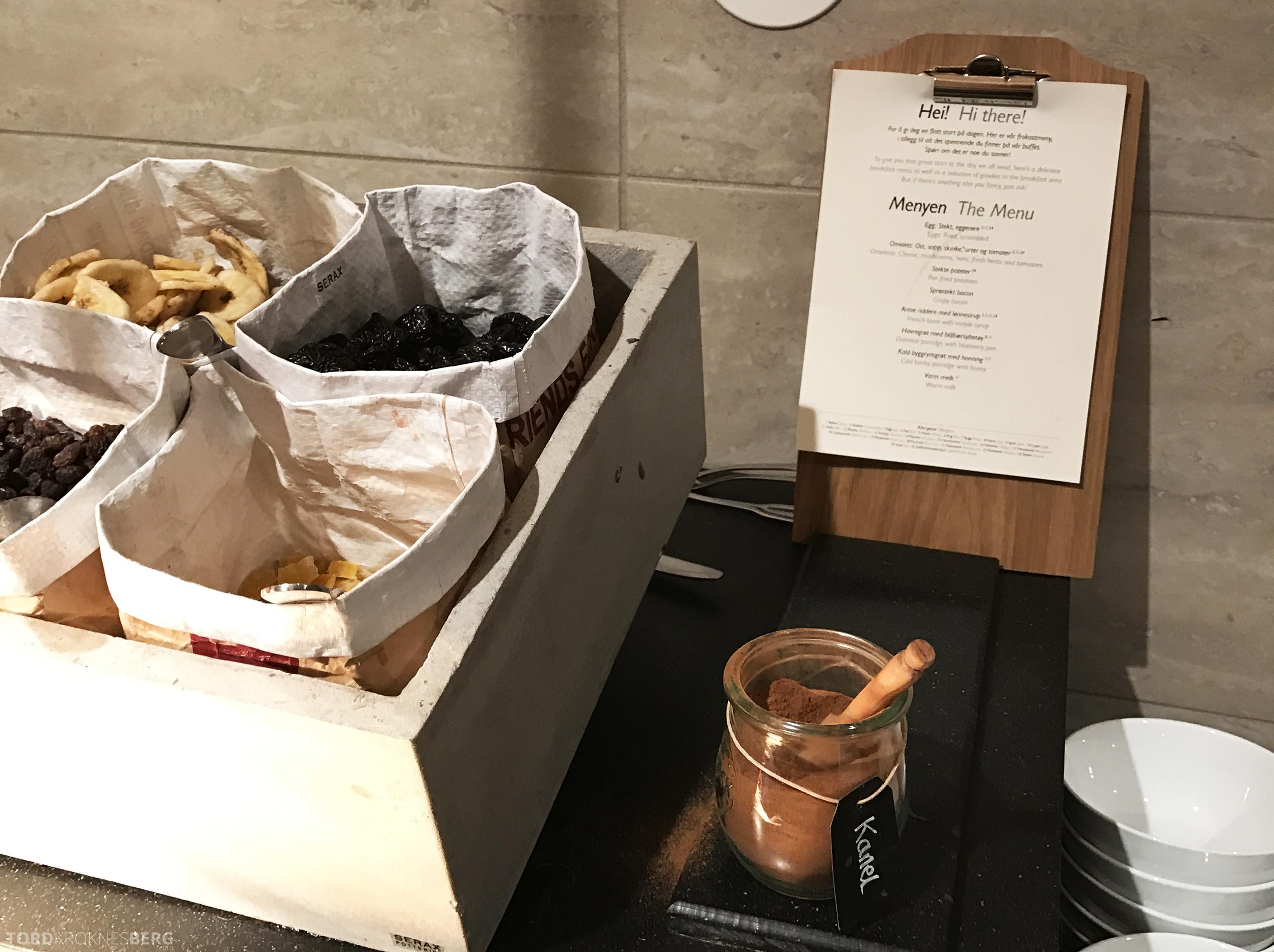 Radisson Blu Scandinavia Hotel frokostbuffet meny
