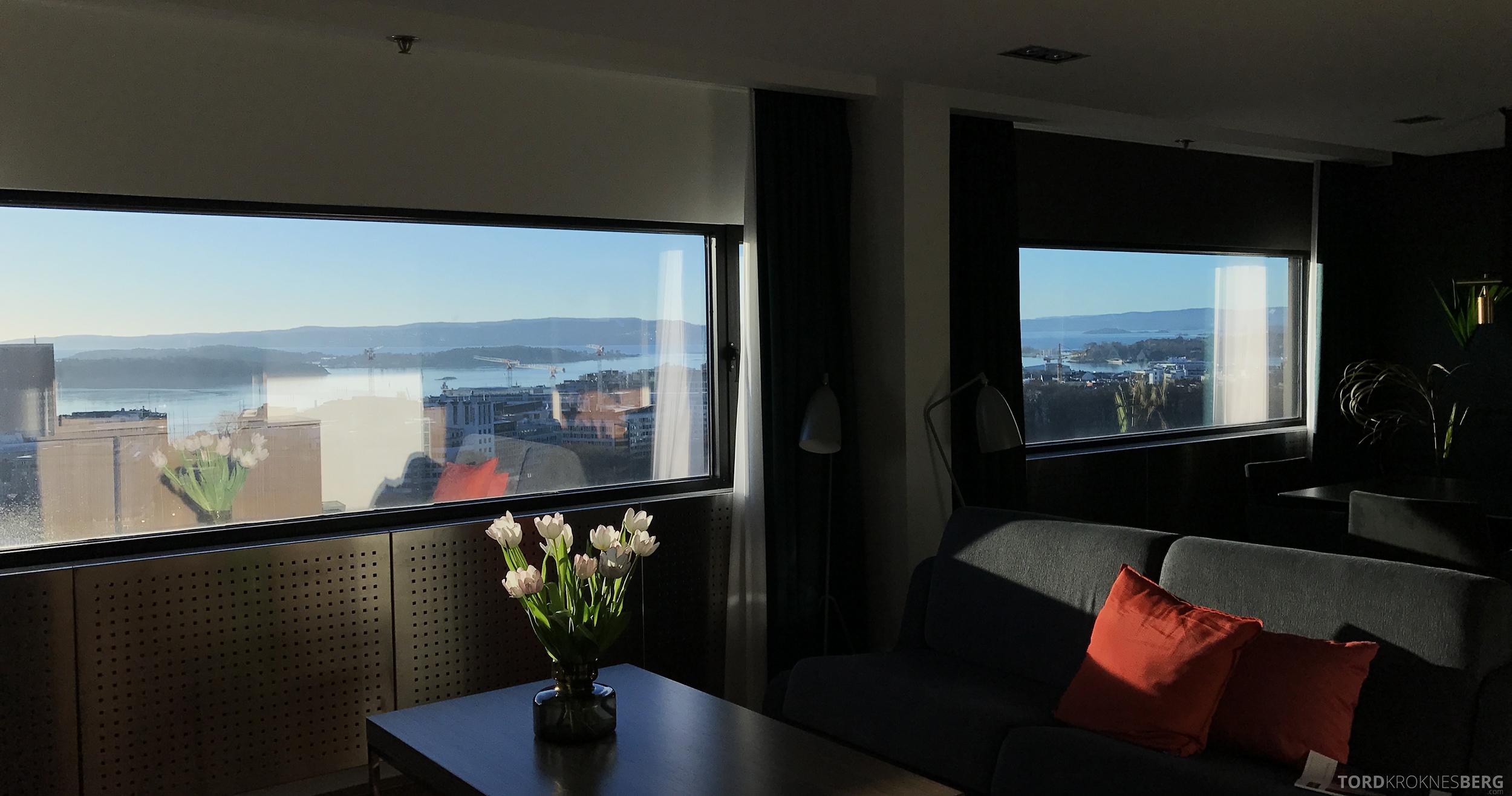 Radisson Blu Scandinavia Hotel suite utsikt