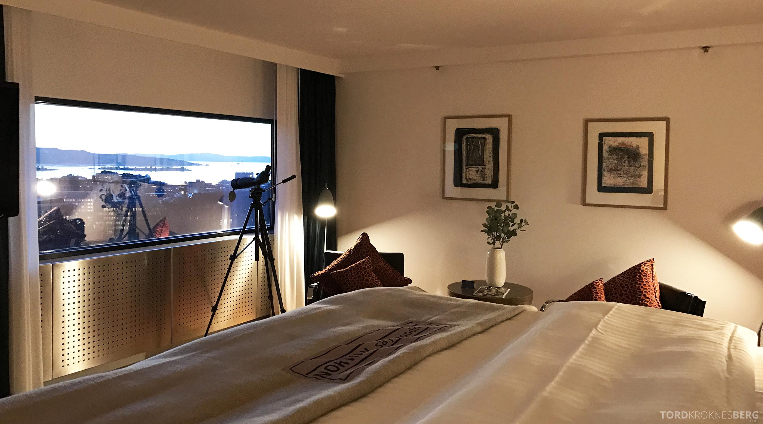 Radisson Blu Scandinavia Hotel suite utsikt fra sengen
