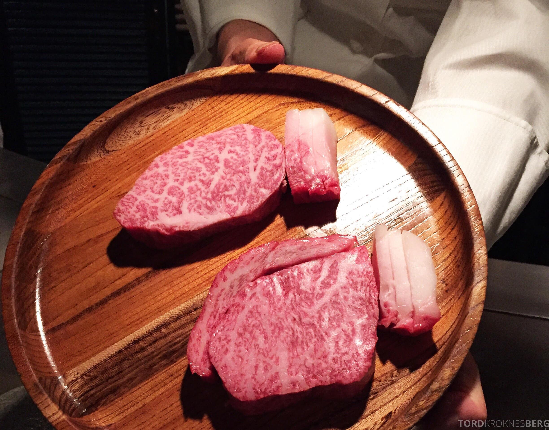 Restaurant Shinjuku Kobe Tokyo rått kjøtt