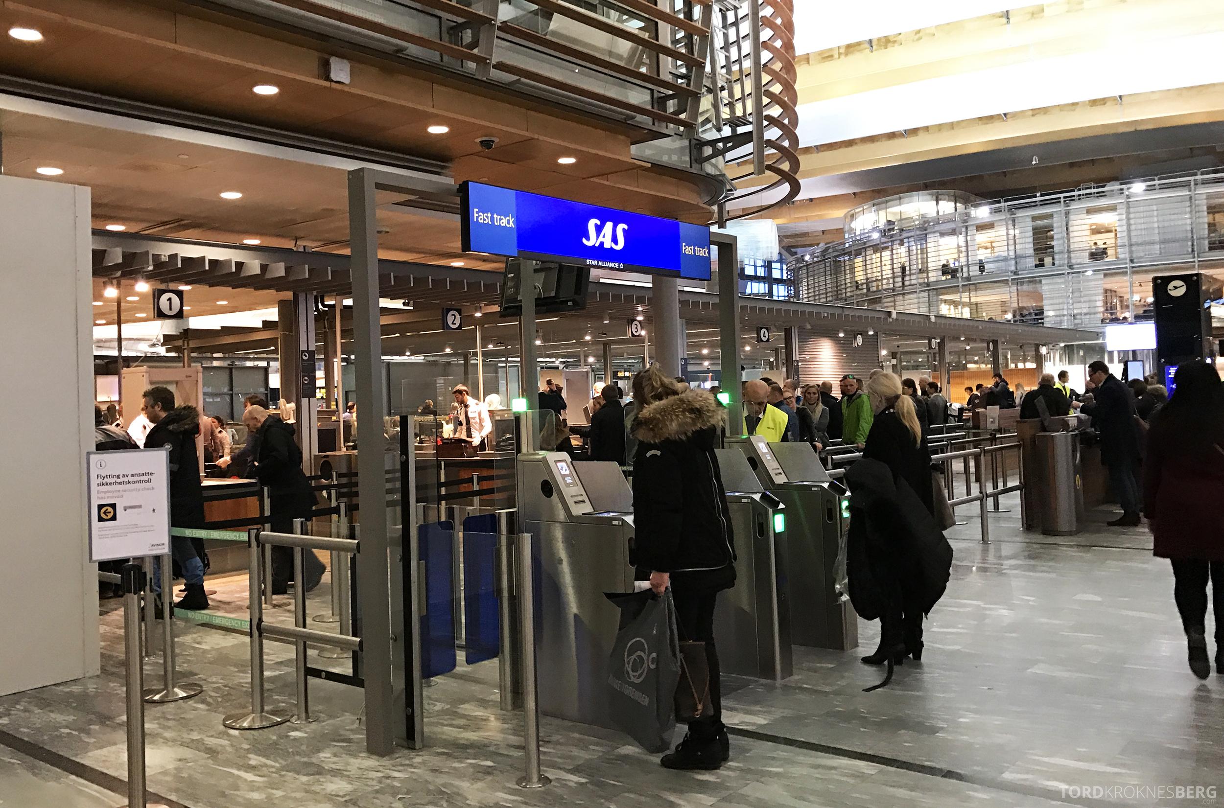 SAS Fast Track Oslo Gardermoen