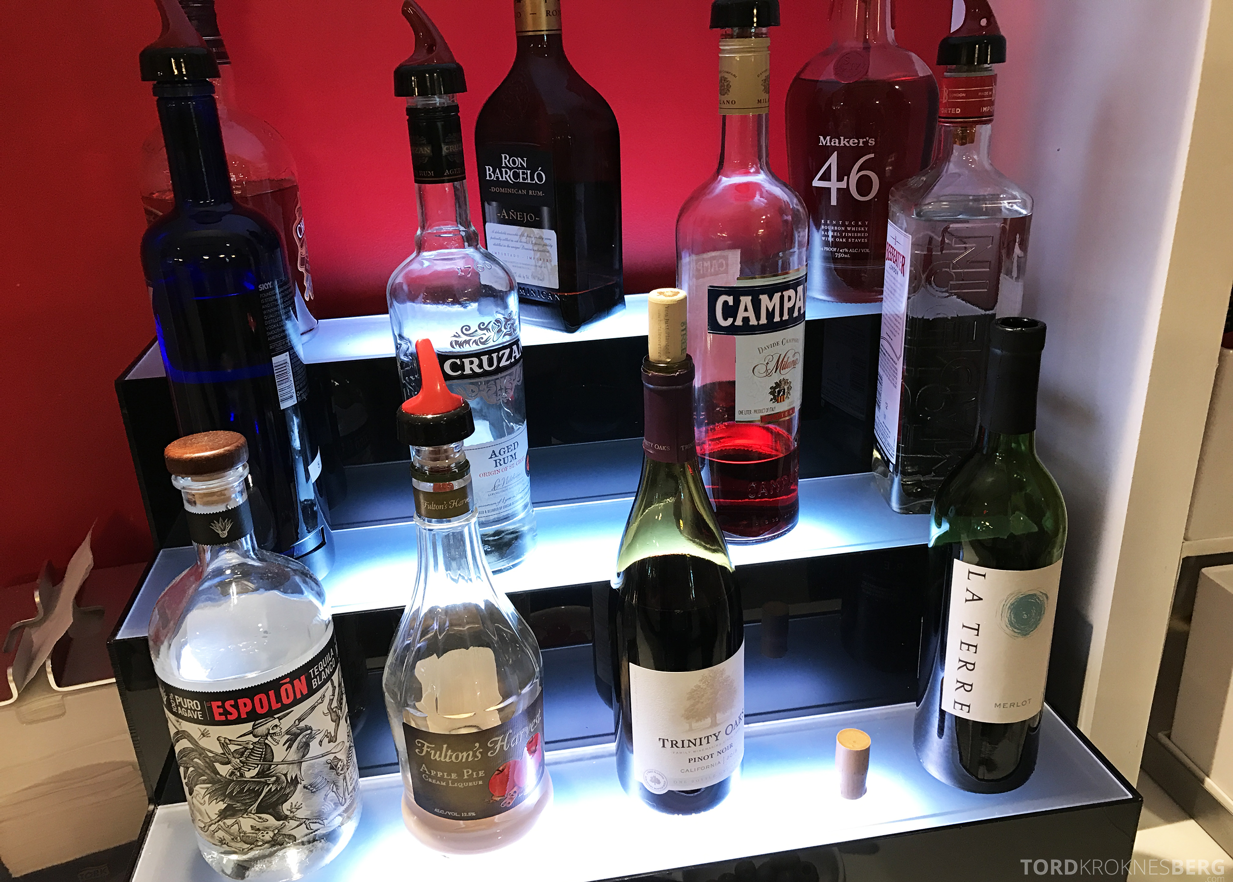 Avianca VIP Lounge Miami alkohol