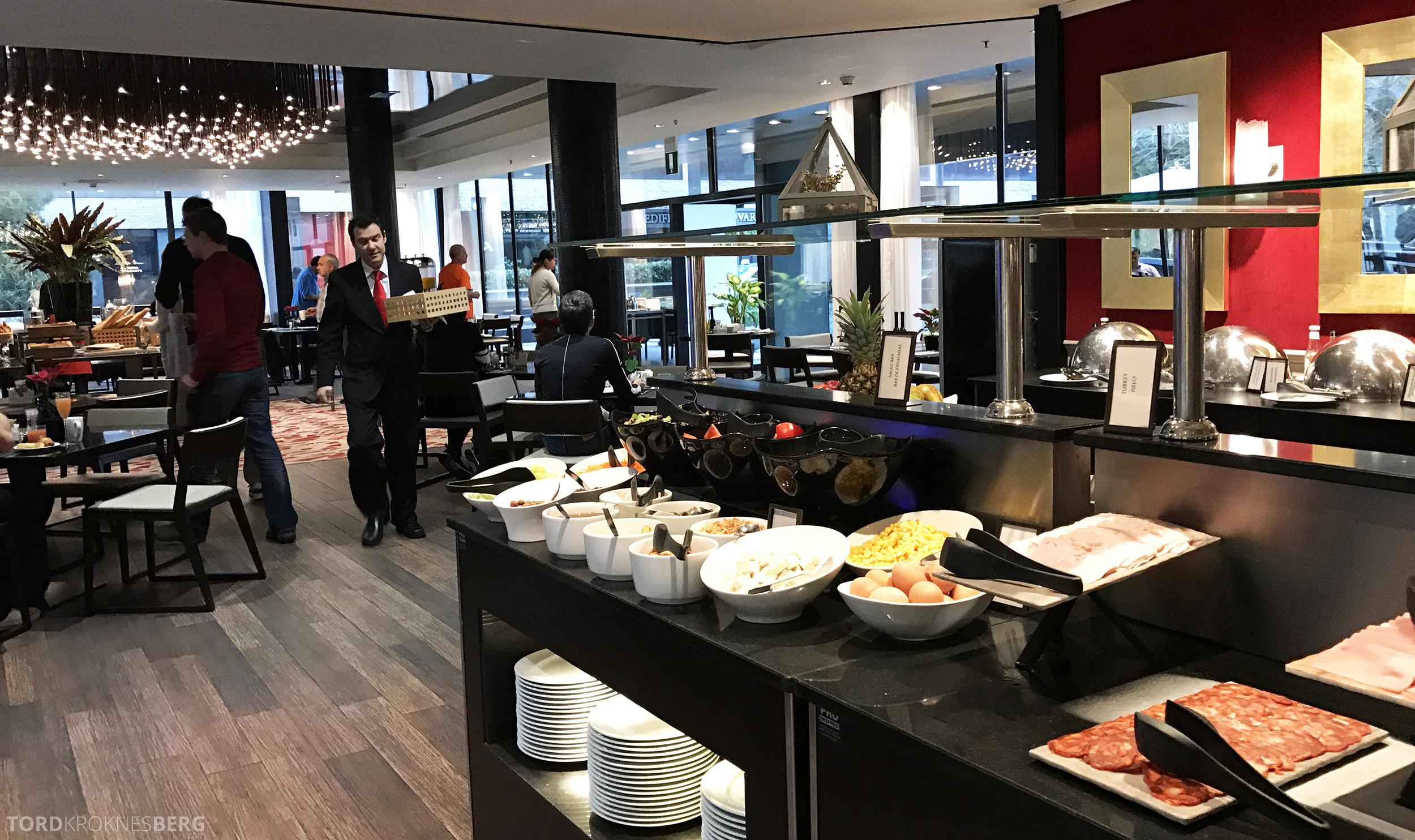 Hilton Barcelona frokostbuffet