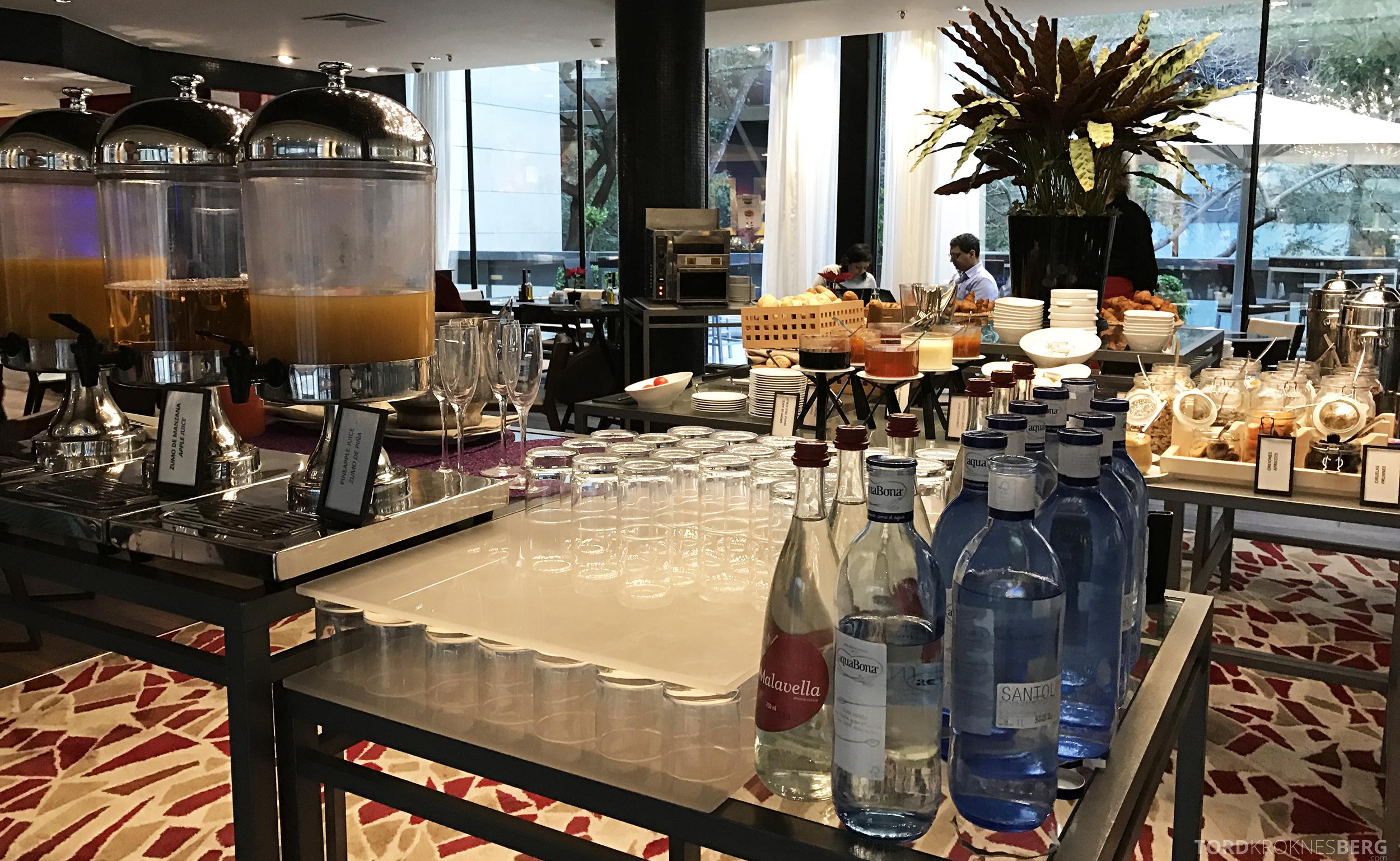 Hilton Barcelona frokost drikke