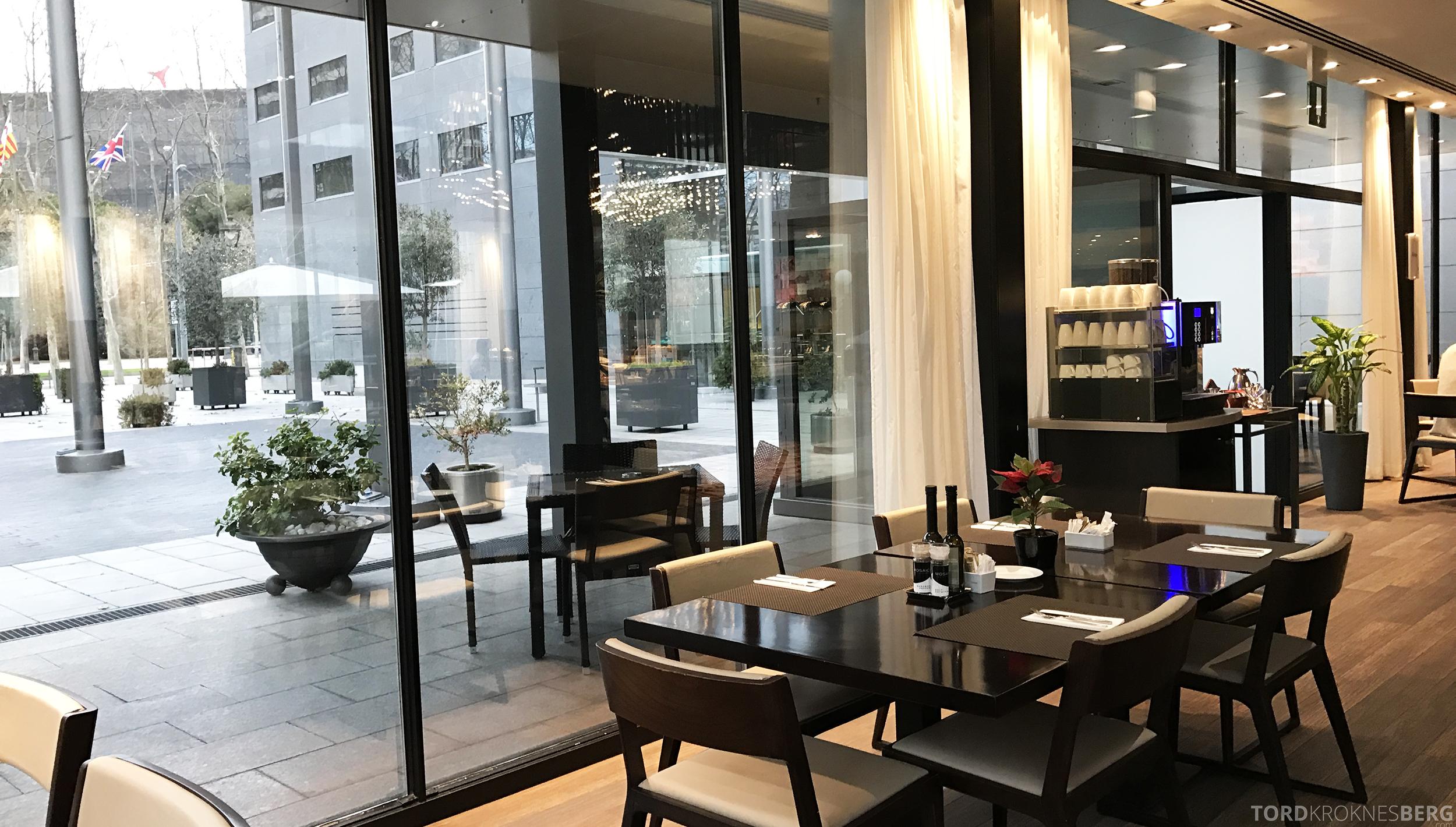 Hilton Barcelona frokost bord