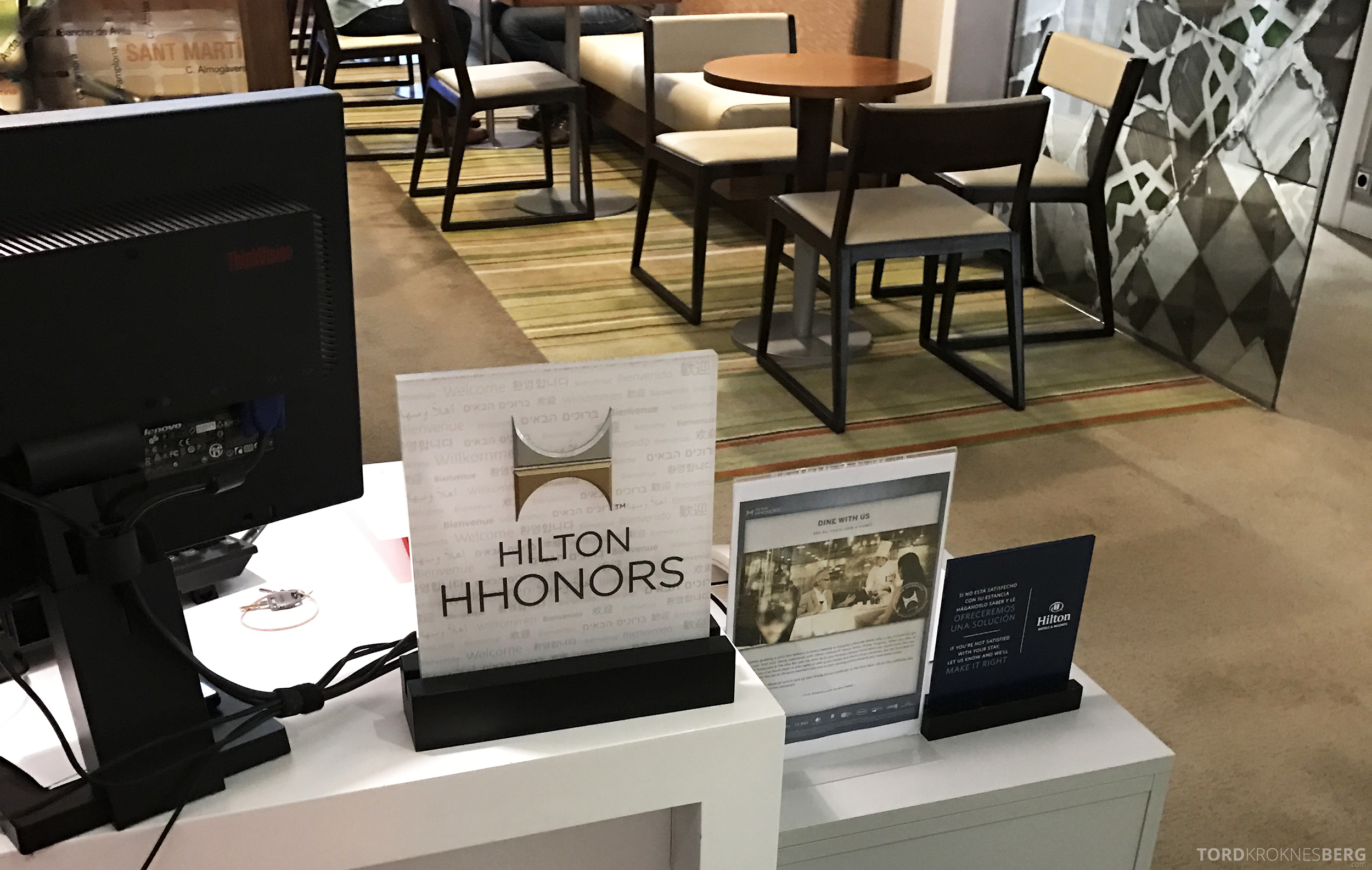 Hilton Barcelona Executive Lounge utsjekk
