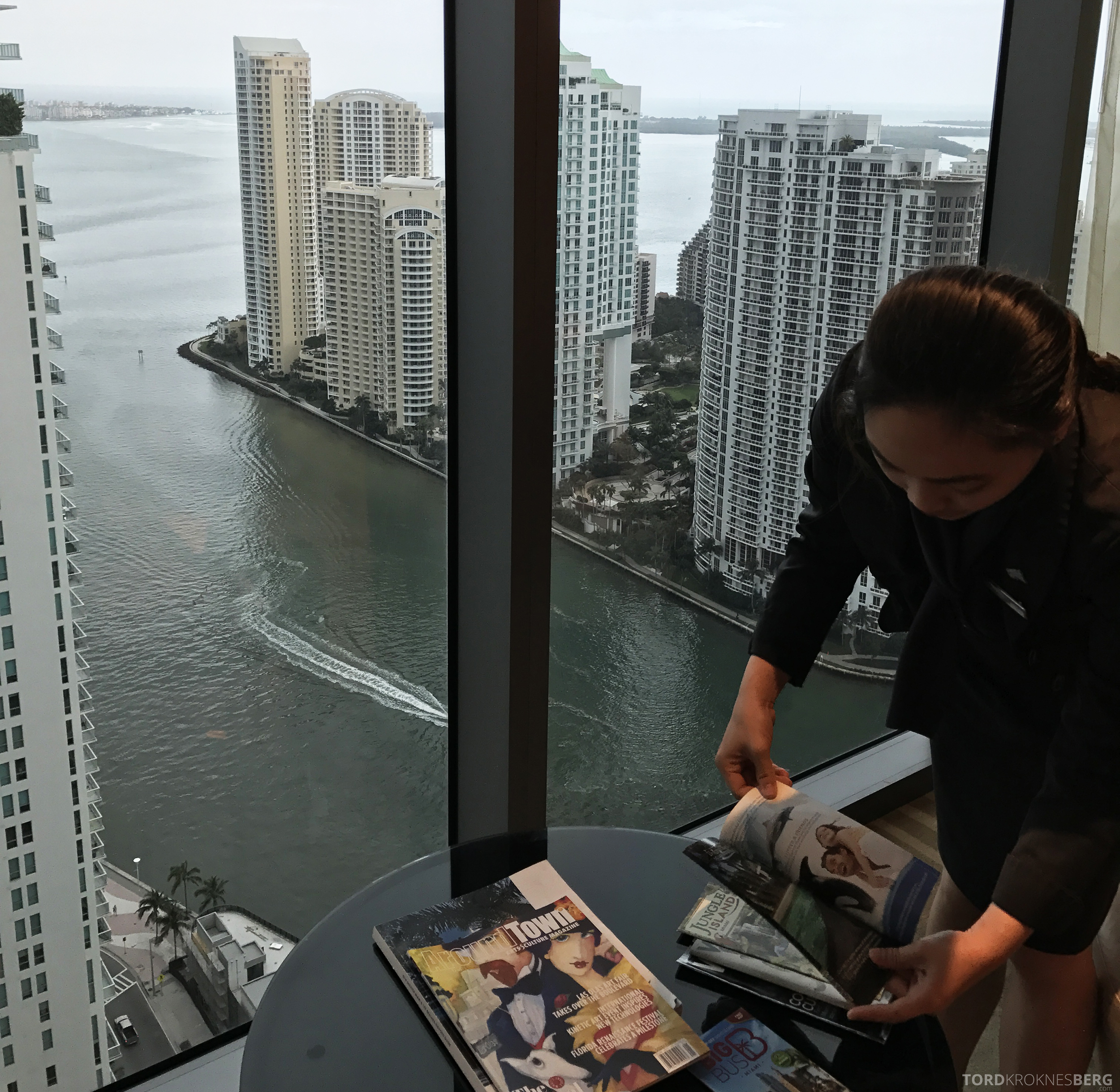 JW Marriott Marquis Miami Executive Lounge servering