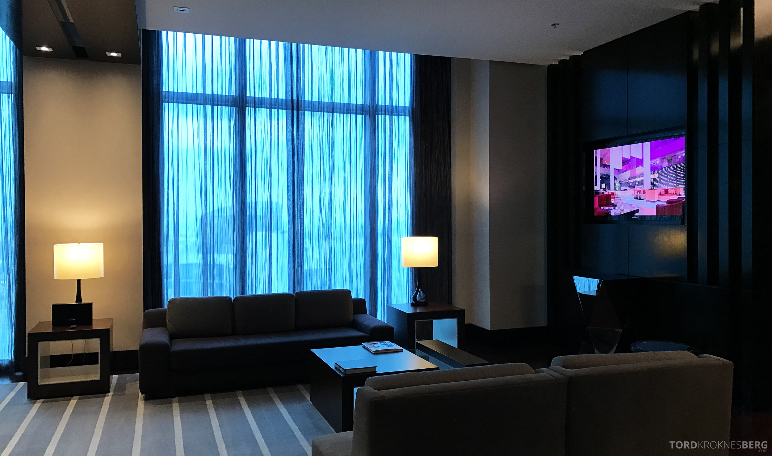 Presidential Suite JW Marriott Marquis Miami stue