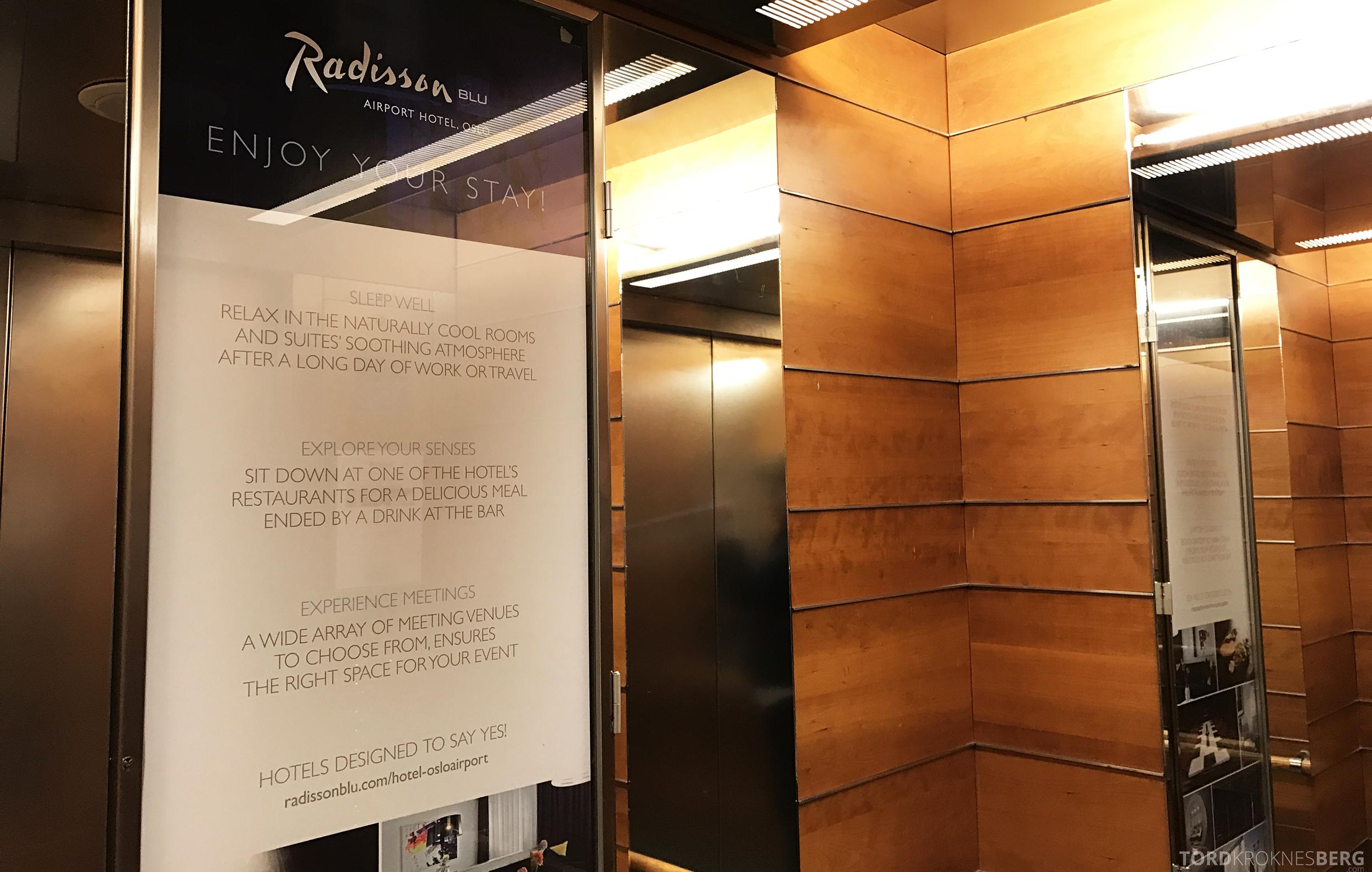 Radisson Blu Oslo Airport Hotel suite heis