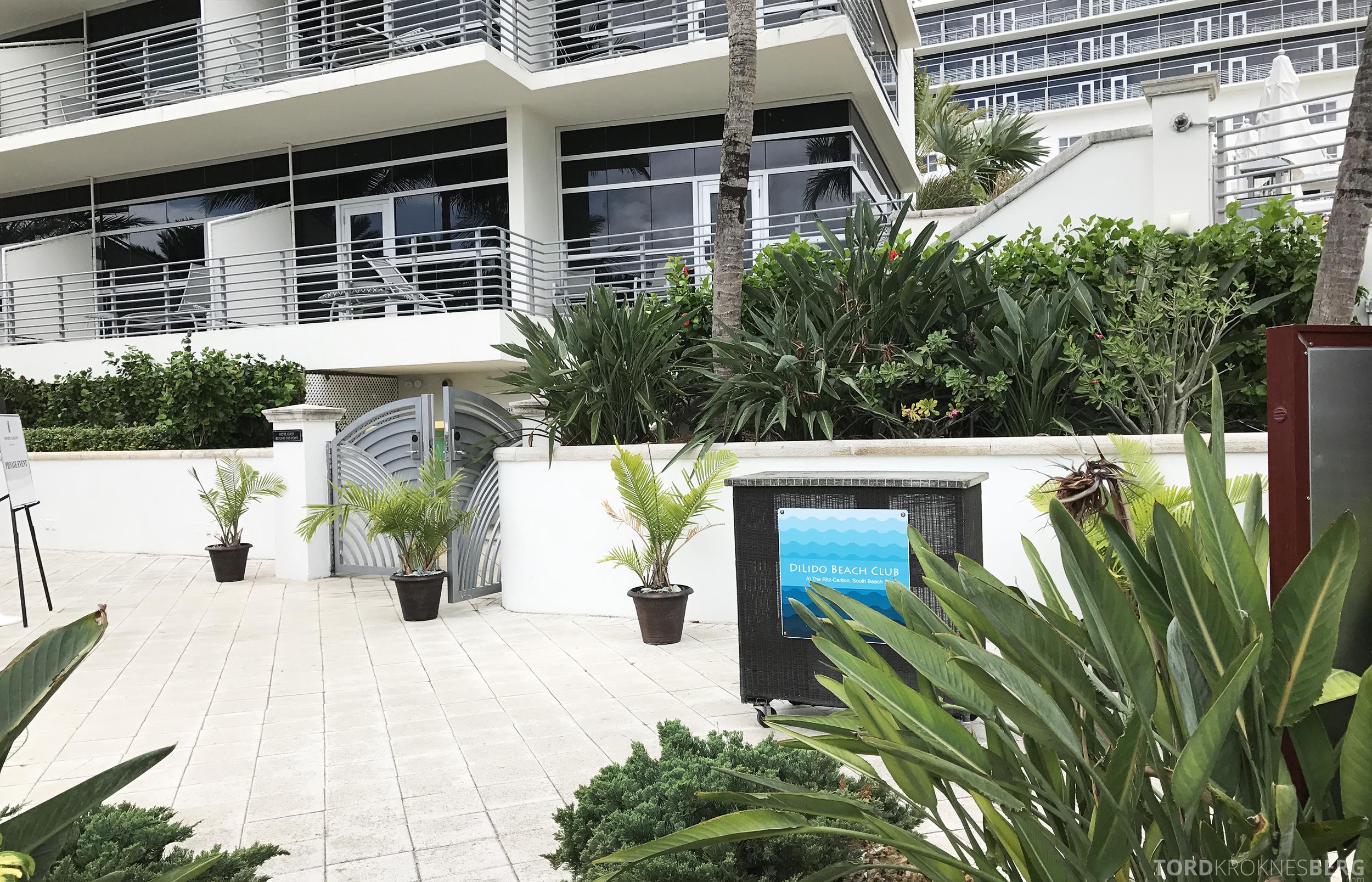 The Ritz Carlton South Beach Miami Dilido Beach Club velkomst
