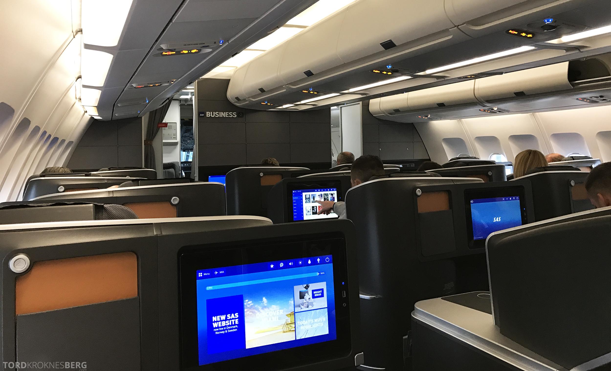 SAS Business Oslo til Miami kabin