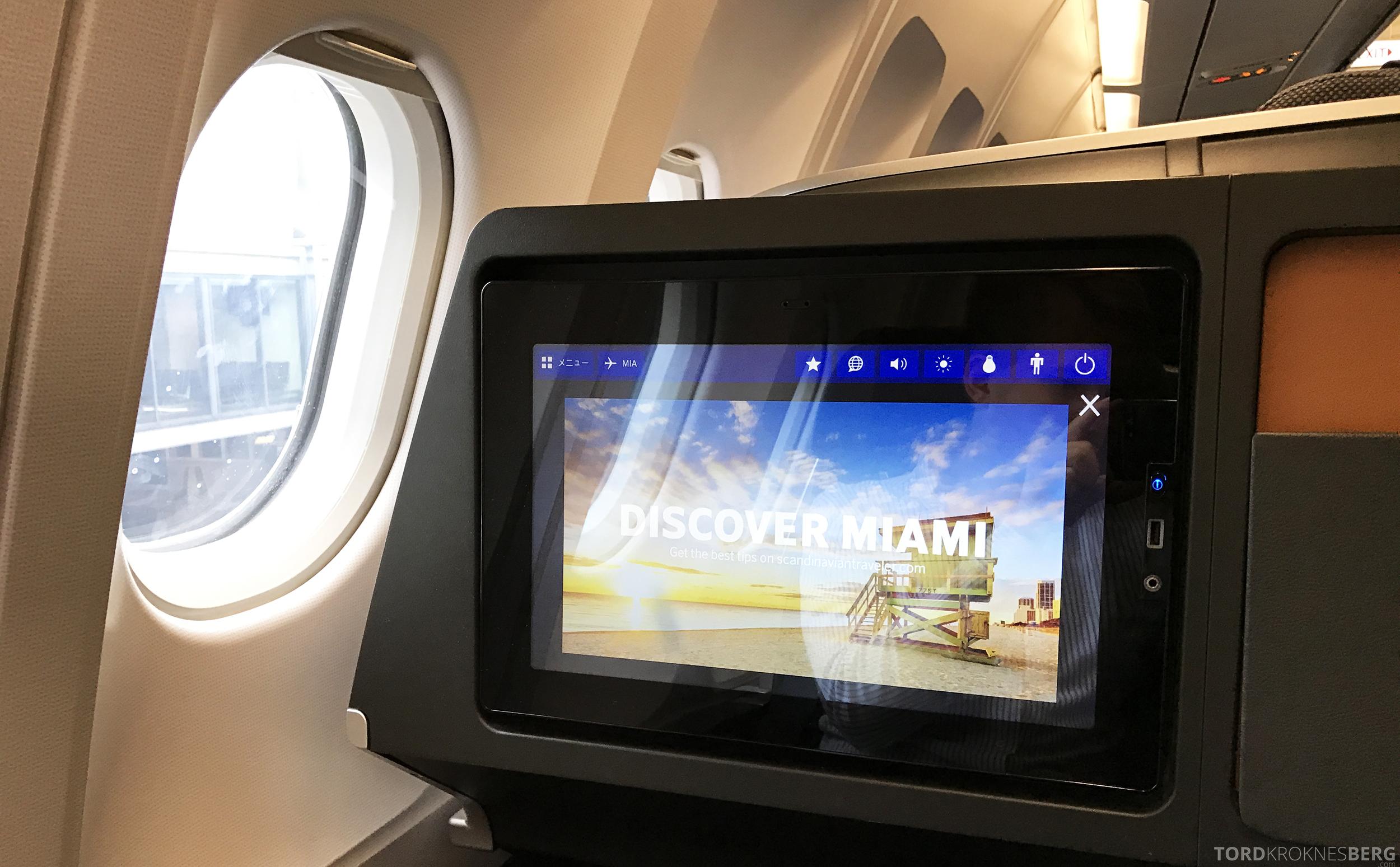 SAS Business Oslo til Miami skjerm