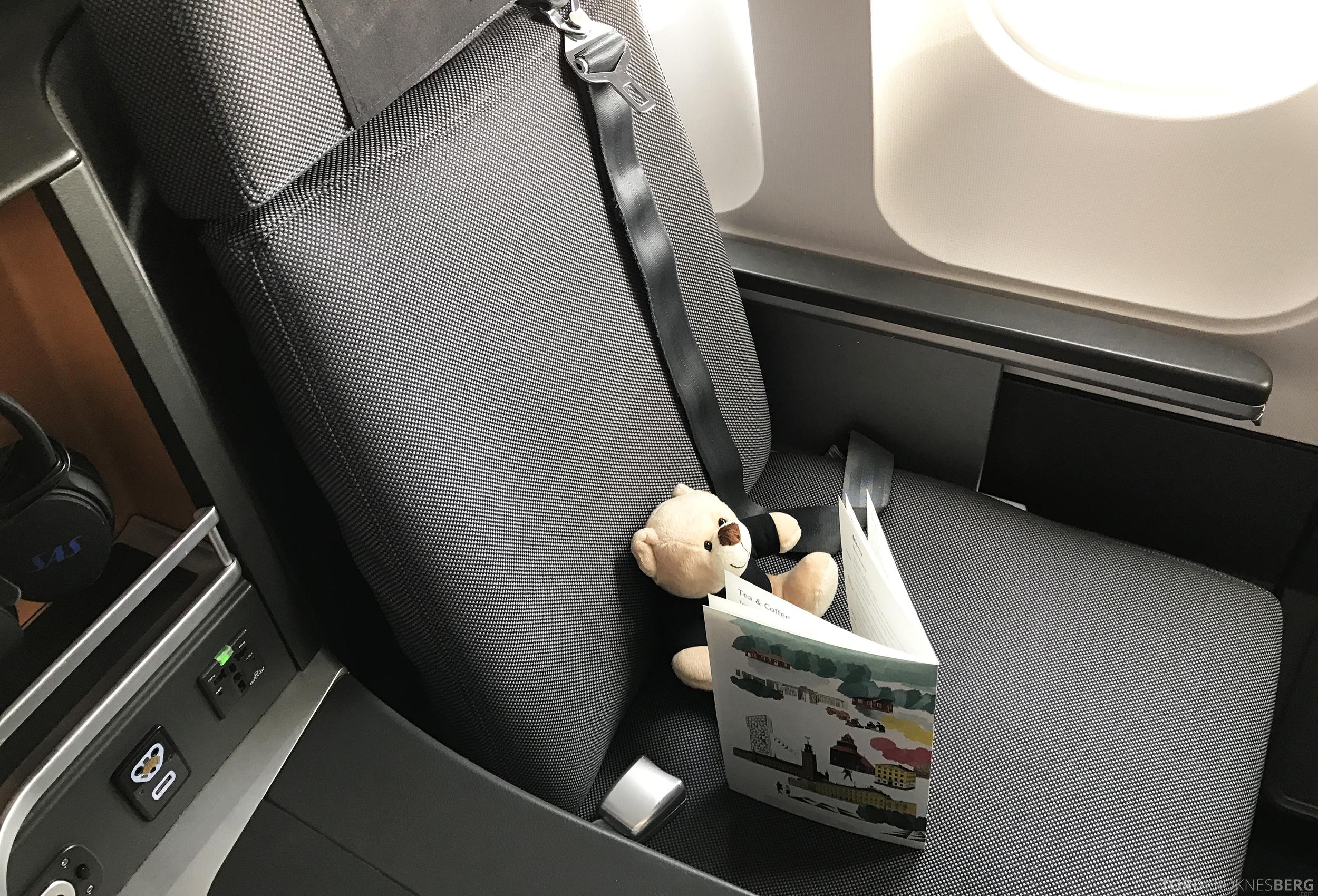 SAS Business Oslo til Miami reisefølget sete
