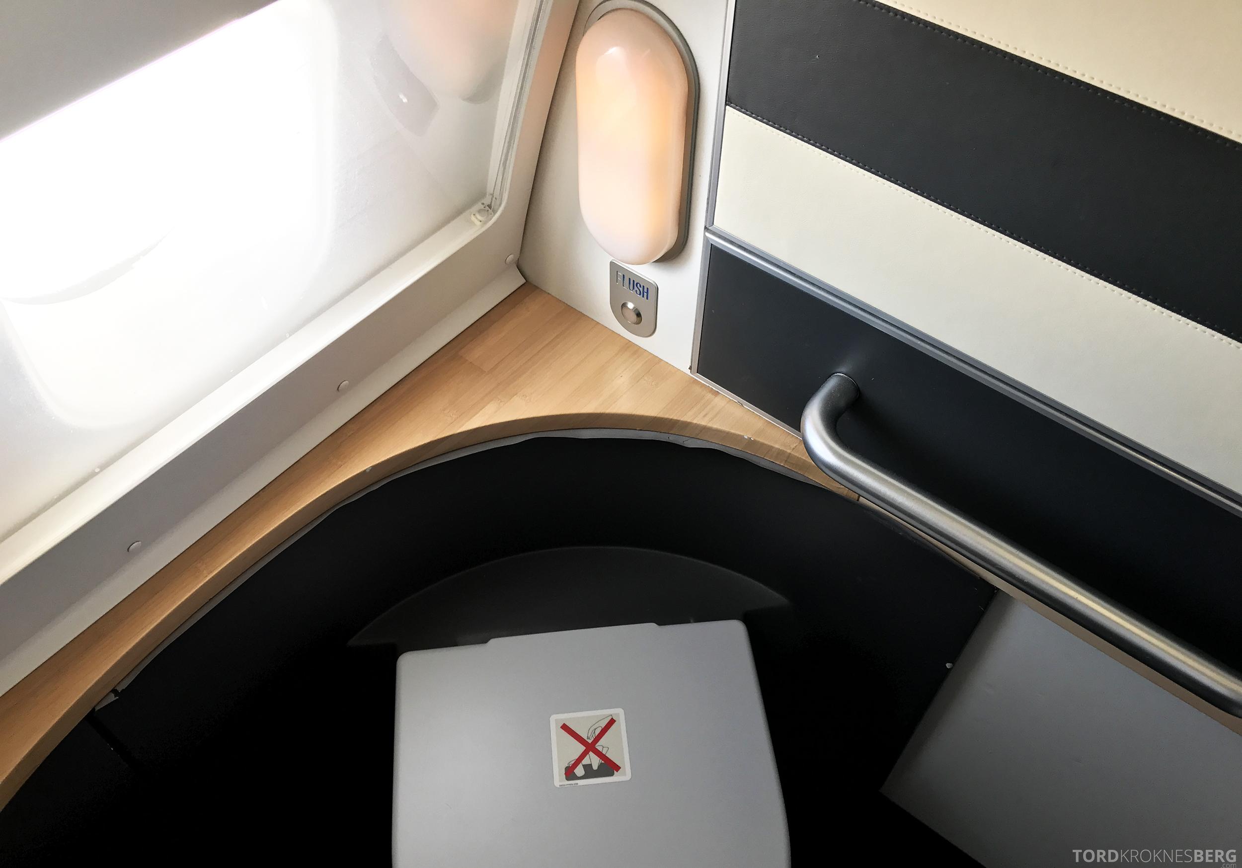 SAS Business Oslo til Miami toalett