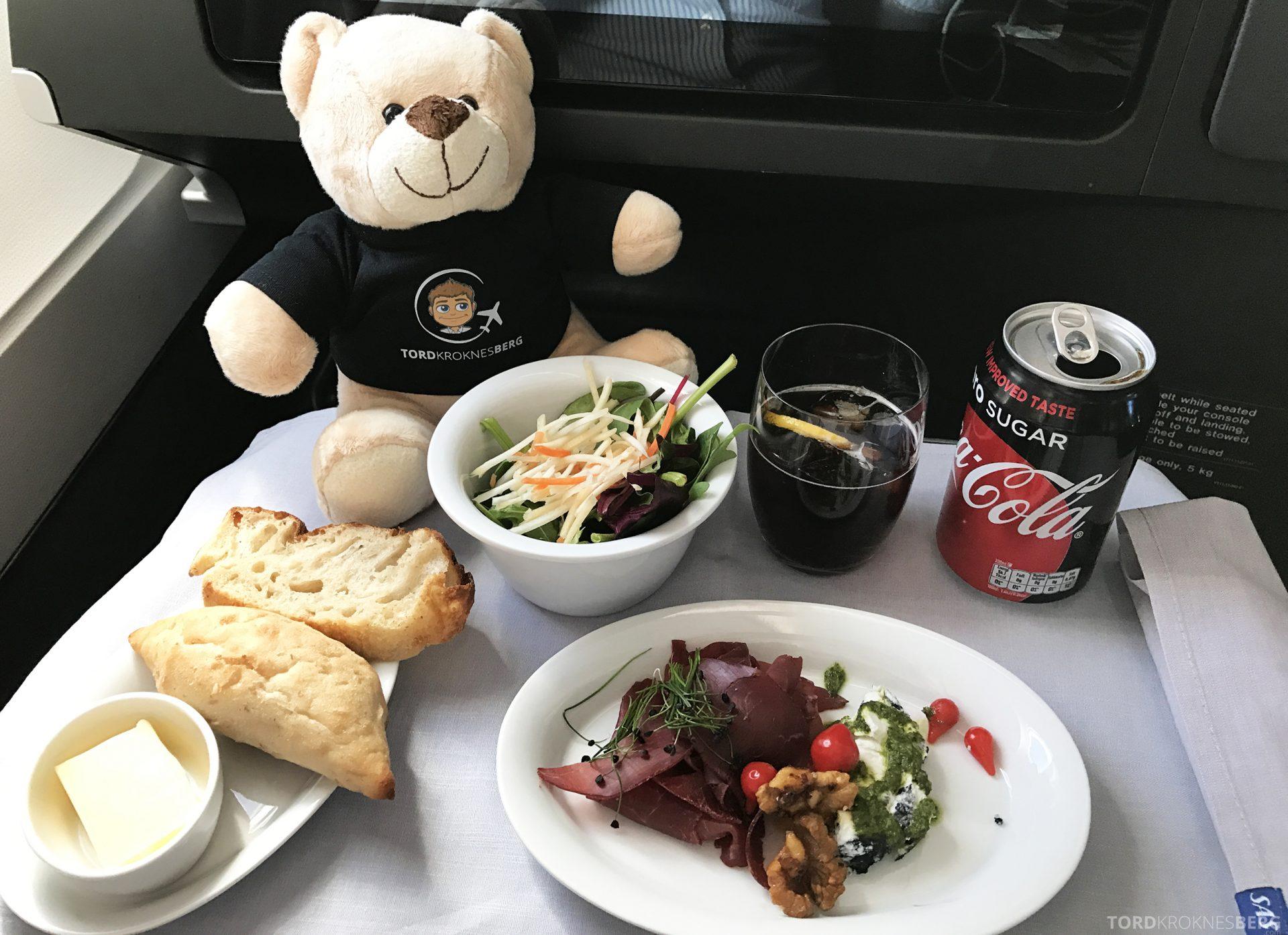 SAS Business Oslo til Miami reisefølget forrett