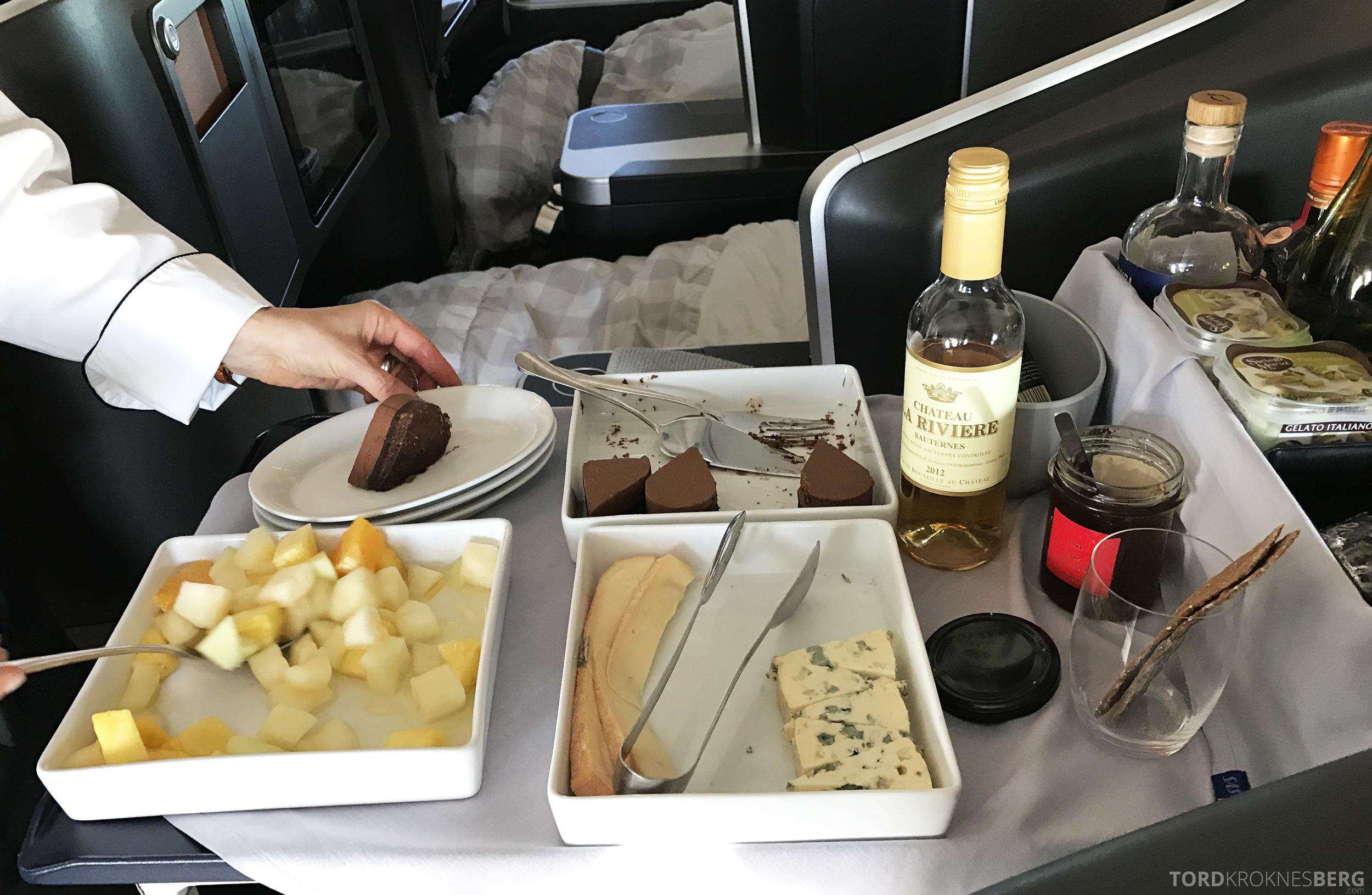 SAS Business Oslo til Miami servering dessert