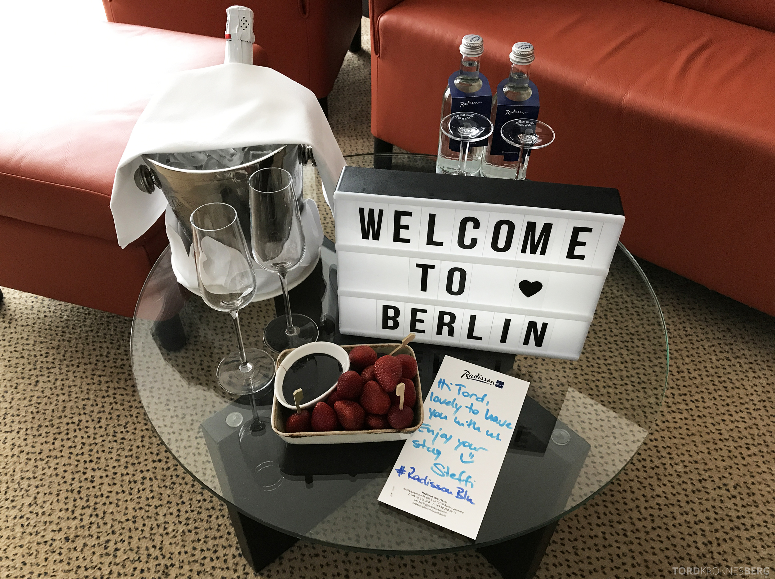 Radisson Blu Berlin velkomstgave