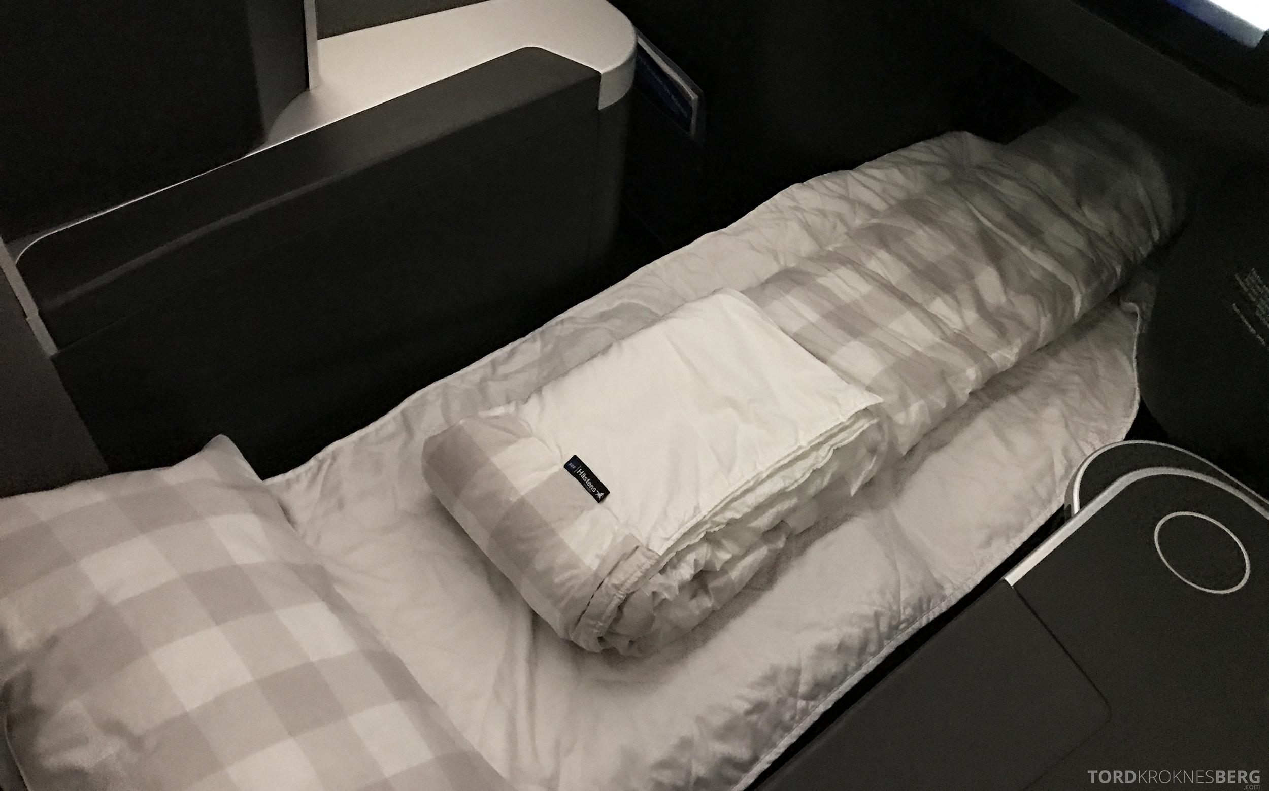 SAS Business Class Miami Oslo seng