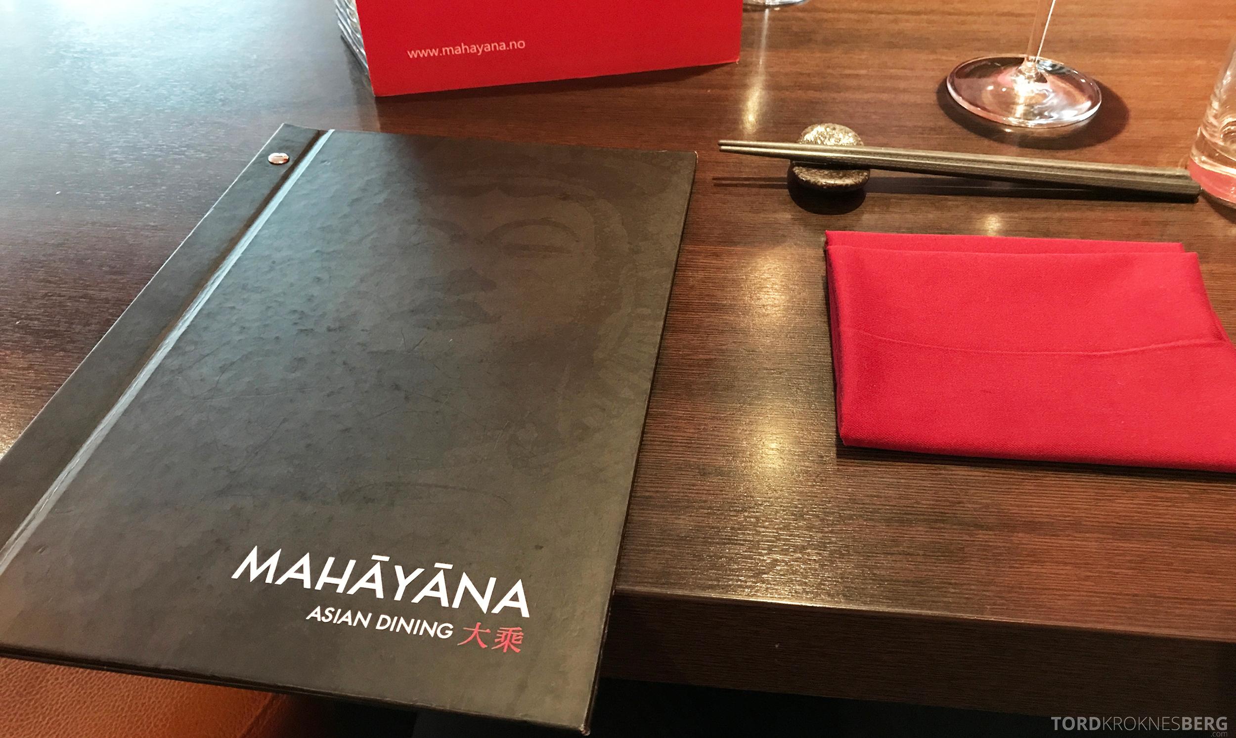 Mahayana Asian Dining Oslo detaljer meny