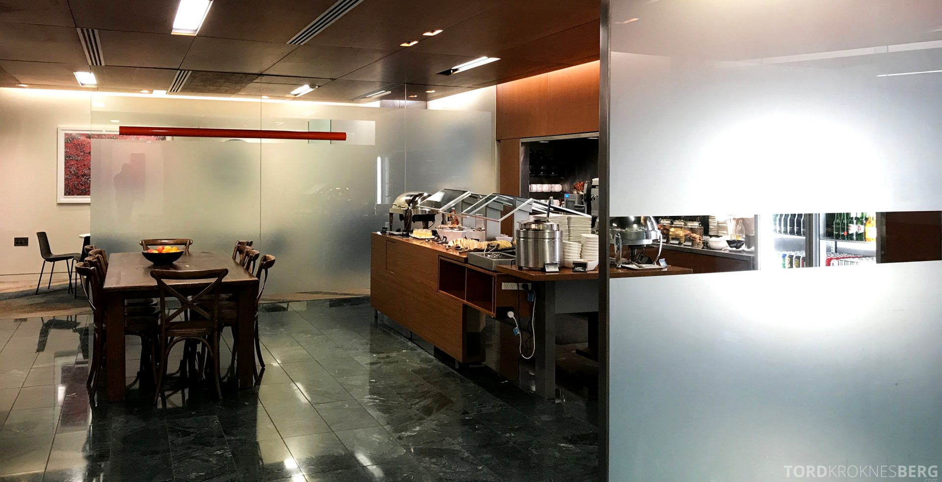 Air New Zealand Lounge Wellington buffet