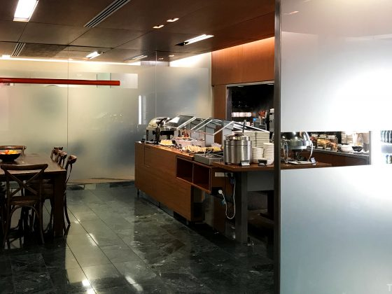Air New Zealand Lounge Wellington buffet