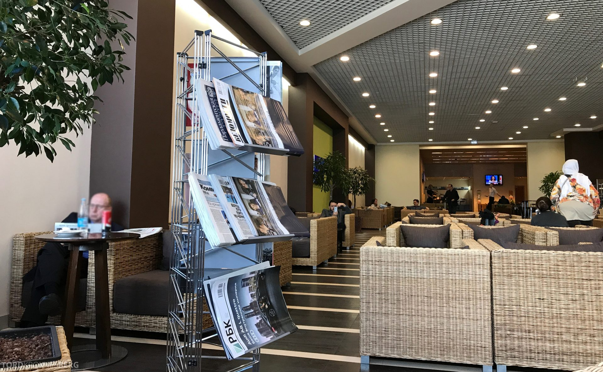 Airport Business Lounge Moskva sitteplasser