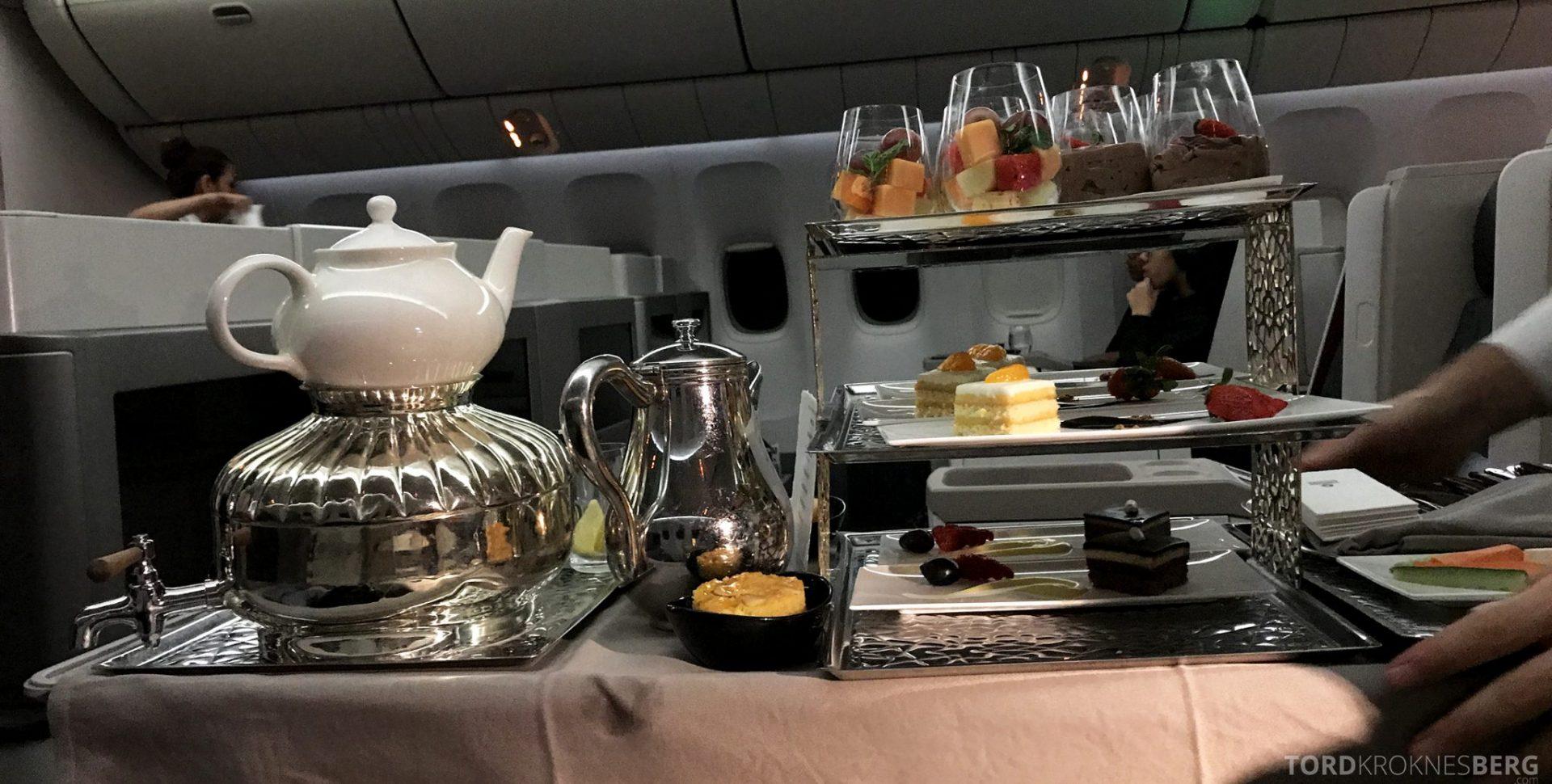 Turkish Airlines Business Class Jakarta Istanbul dessert