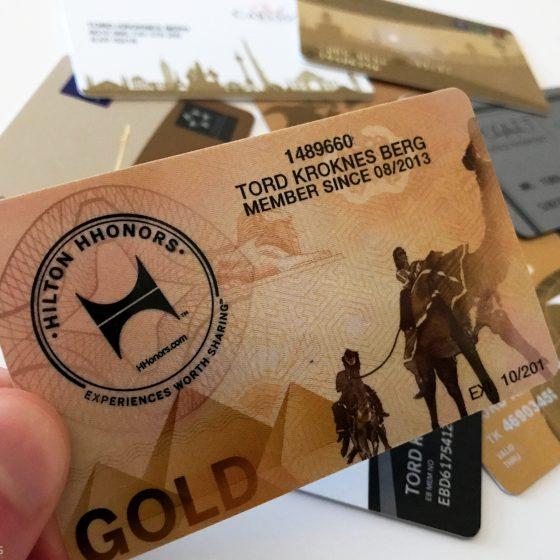 Hilton Honors Gold