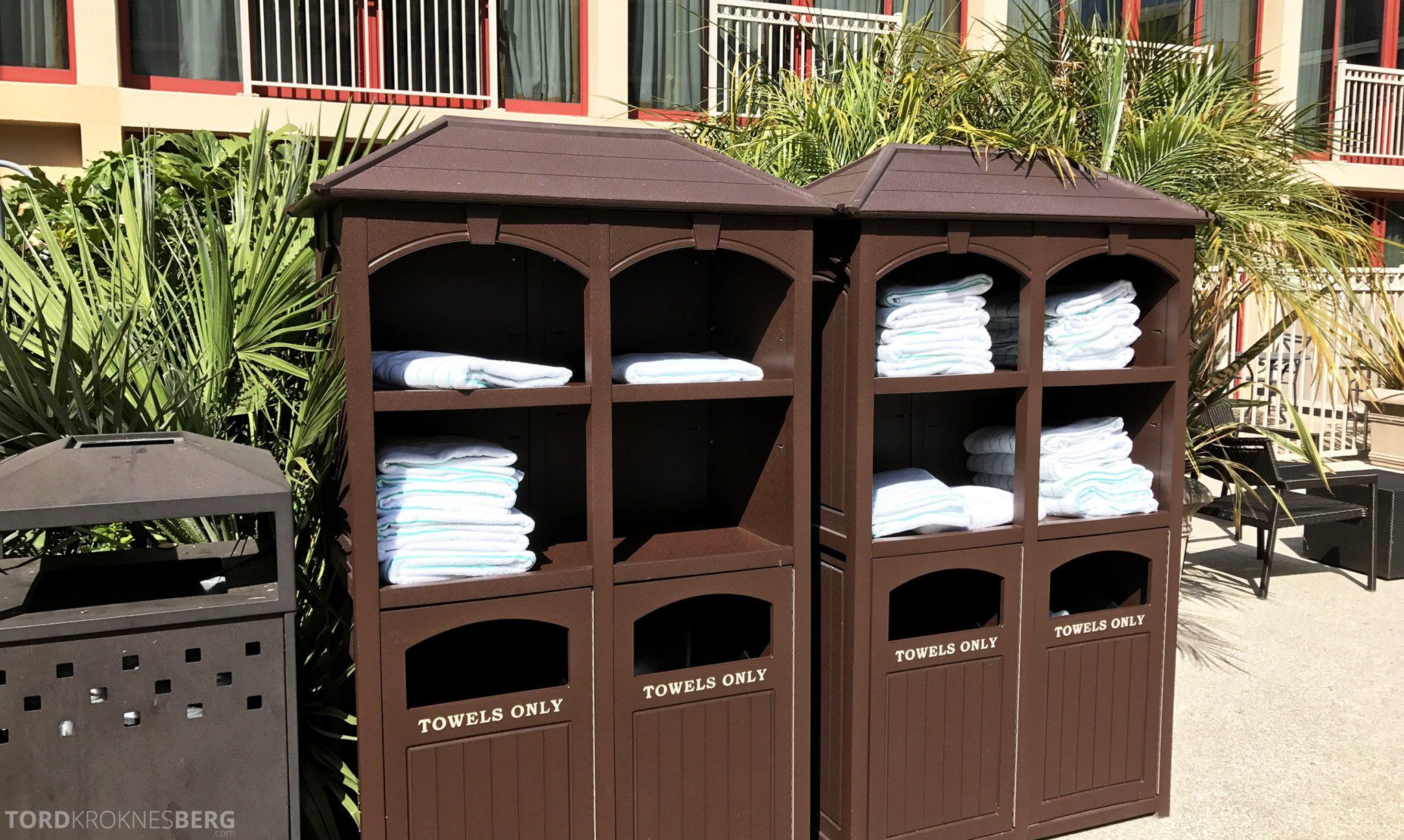 Hilton San Francisco Hotel håndklær bassengområde