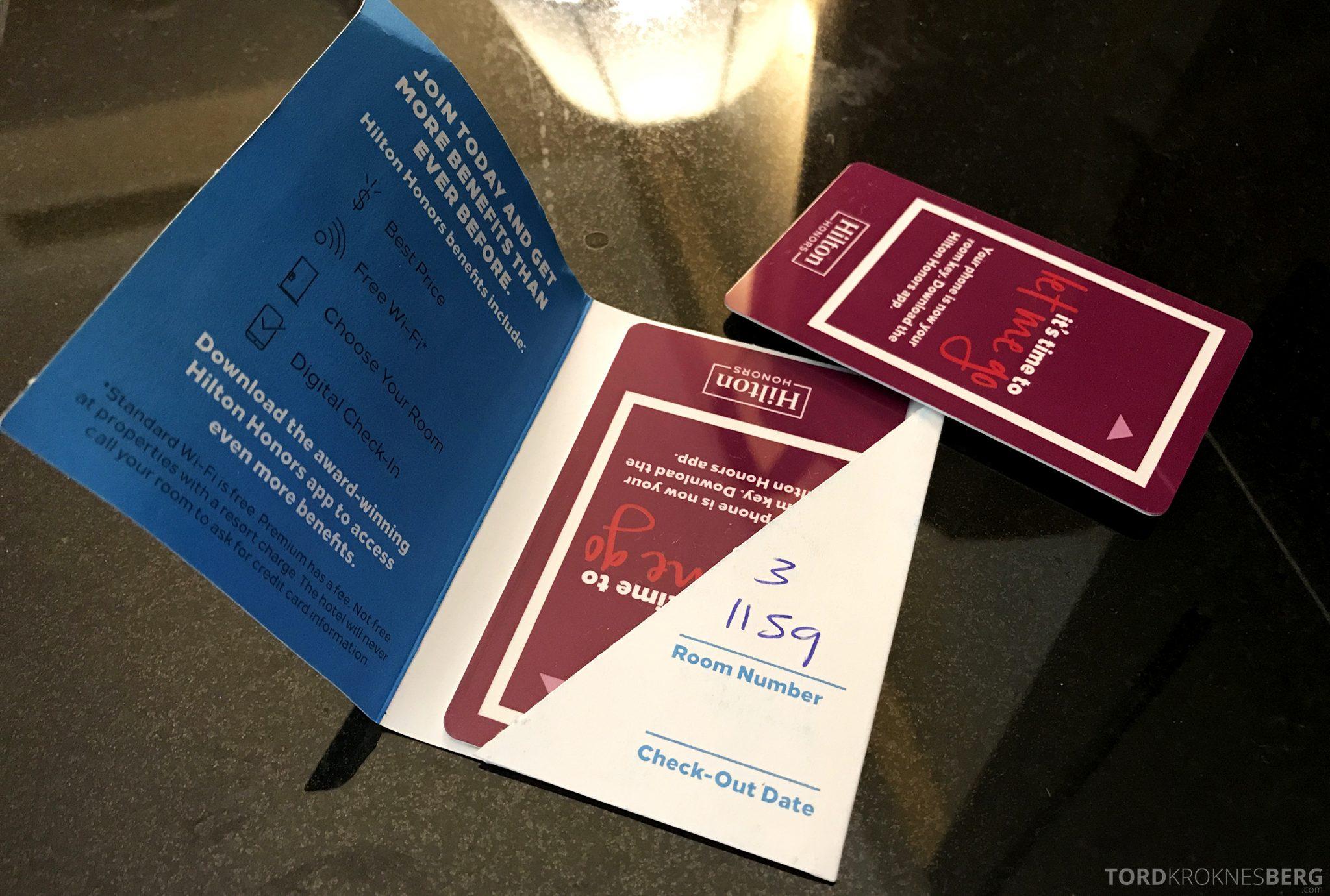 Hilton San Francisco Hotel nøkkelkort