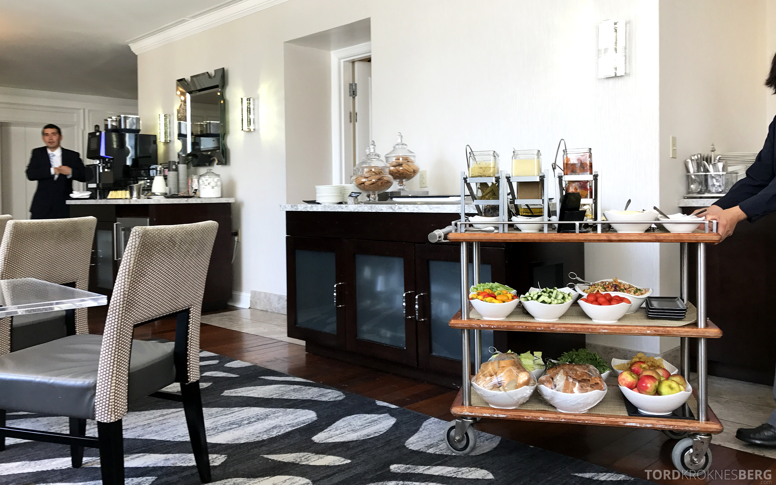 Ritz-Carlton San Francisco Hotel Club Lounge forberedelse