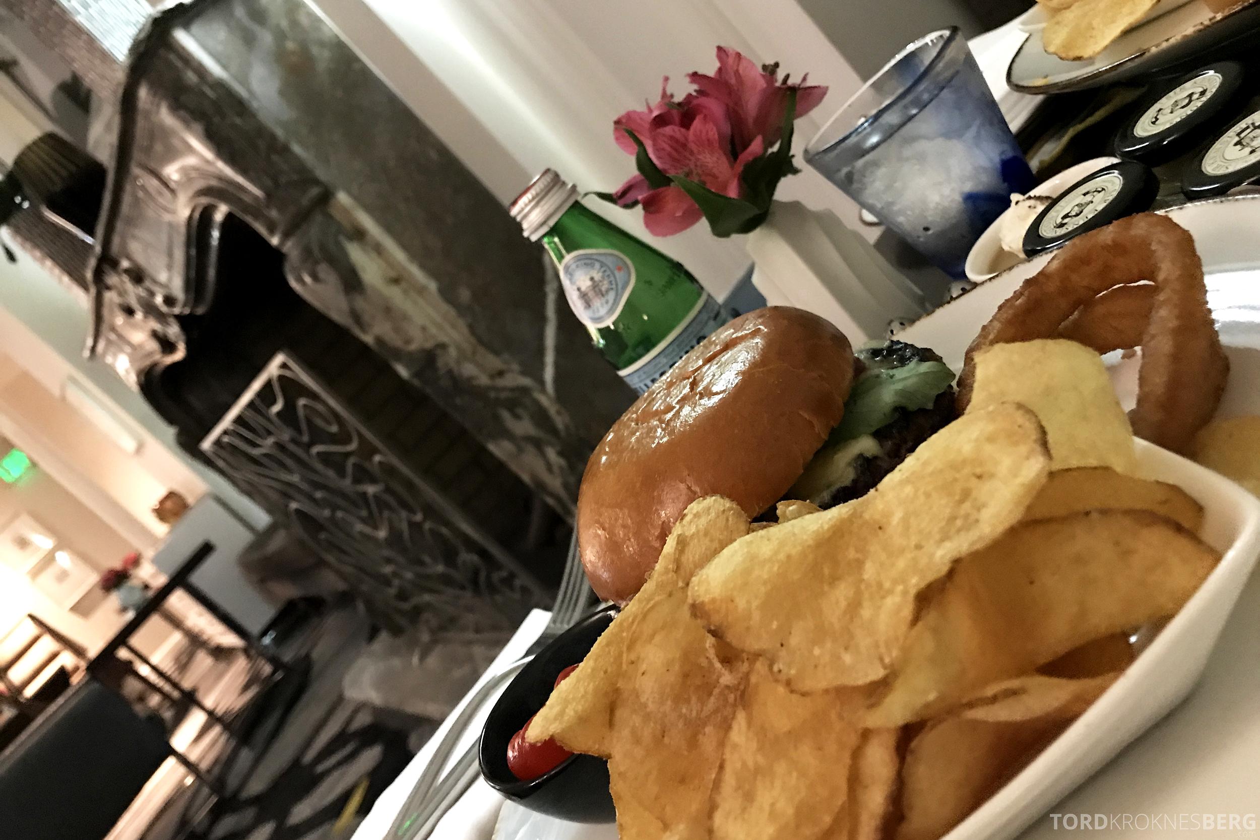 Ritz-Carlton San Francisco Hotel Club Lounge room service burger