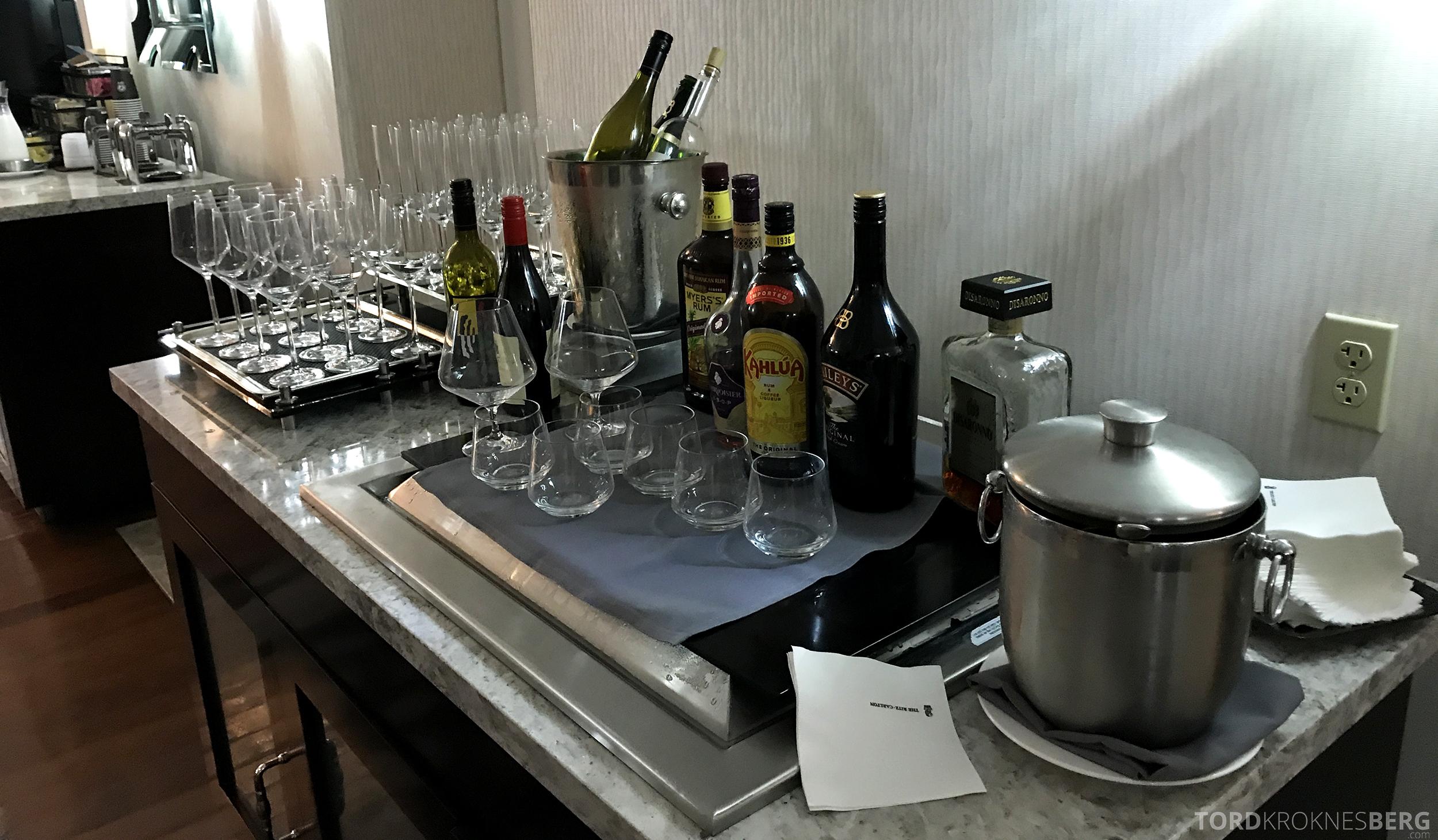 Ritz-Carlton San Francisco Hotel Club Lounge brennevin