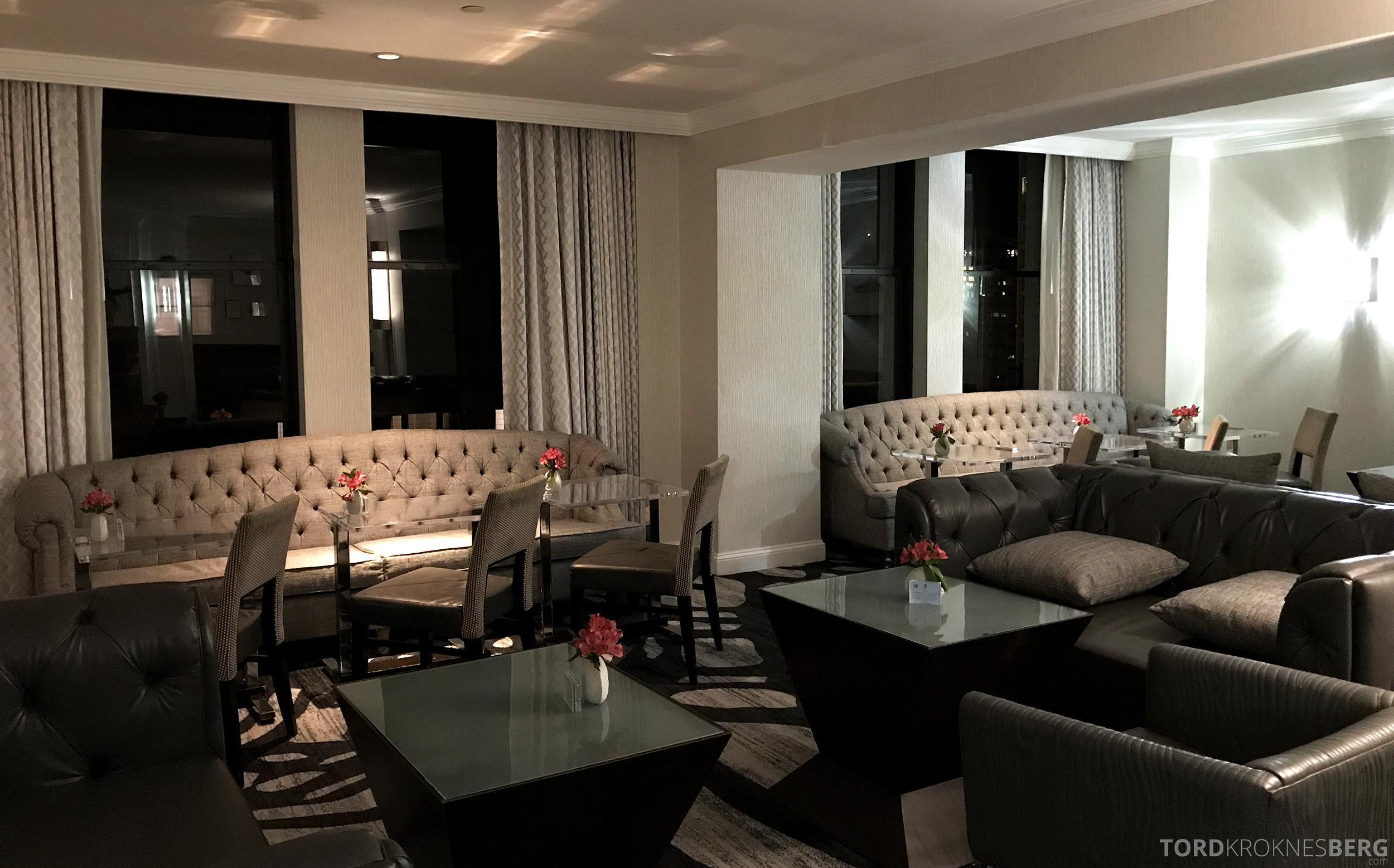 Ritz-Carlton San Francisco Hotel Club Lounge hors d'oeuvre