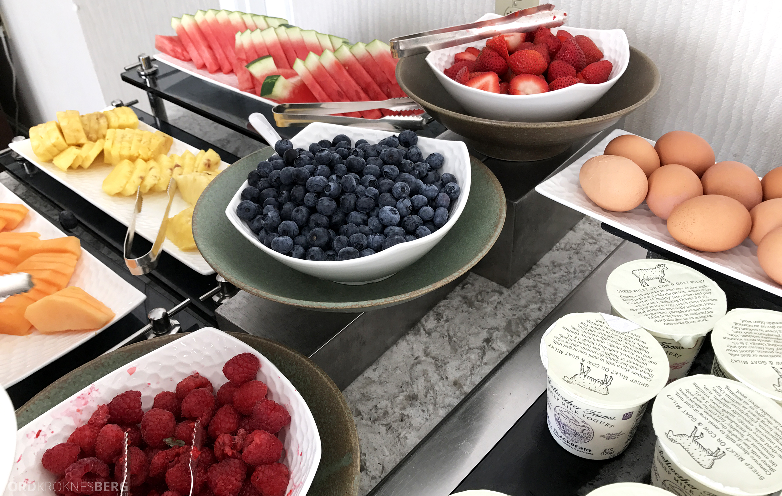 Ritz-Carlton San Francisco Hotel Club Lounge frokost bær