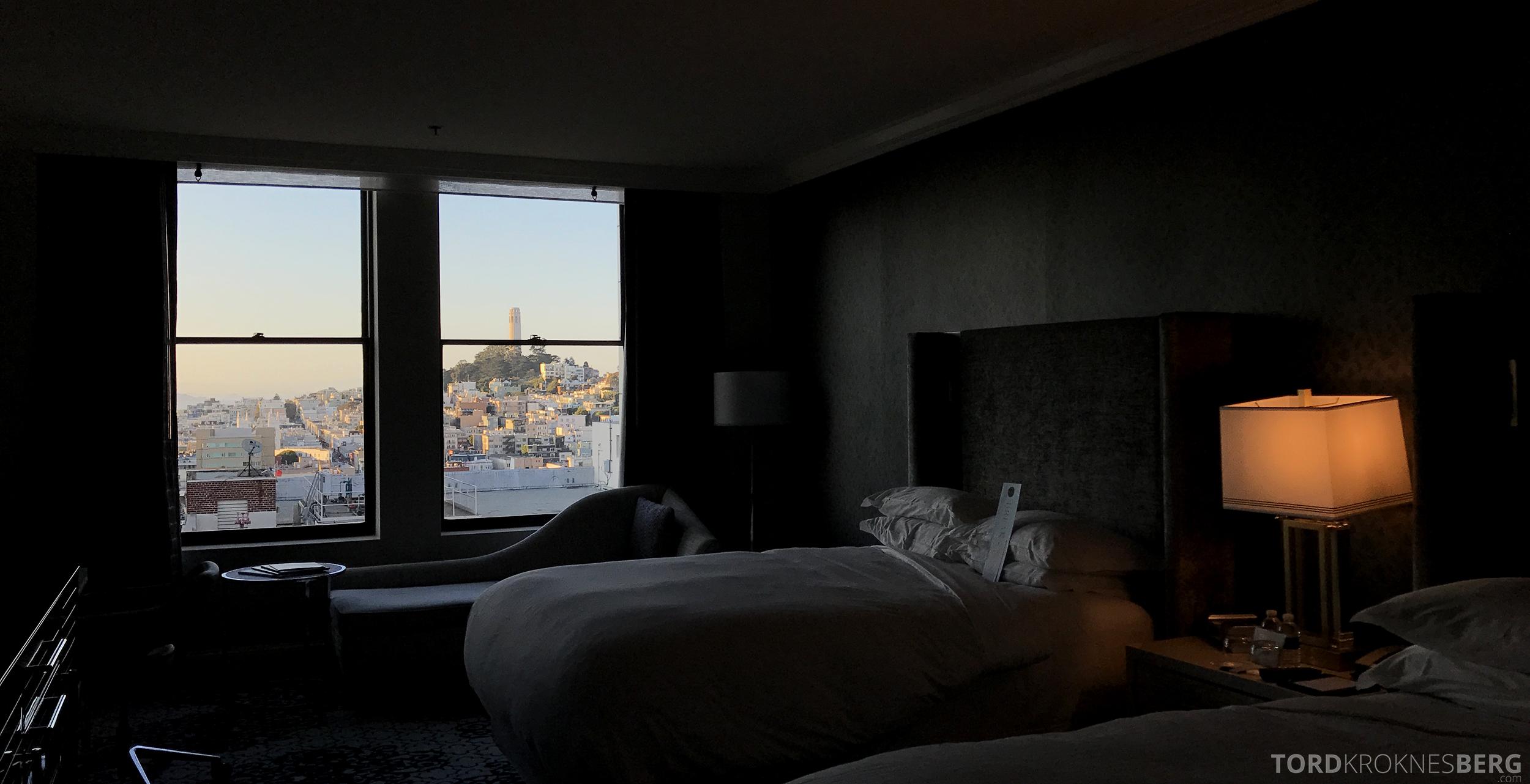 Ritz-Carlton San Francisco Hotel utsikt seng