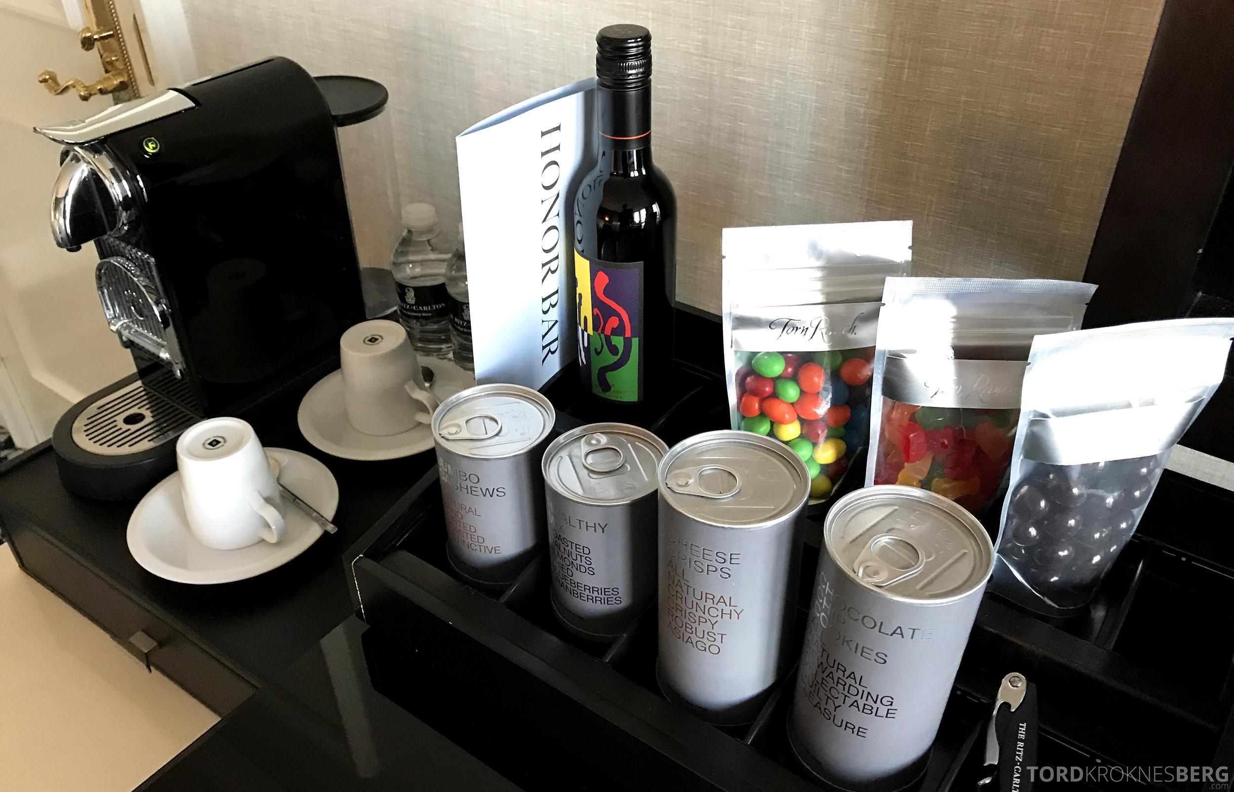 Ritz-Carlton San Francisco Hotel minibar