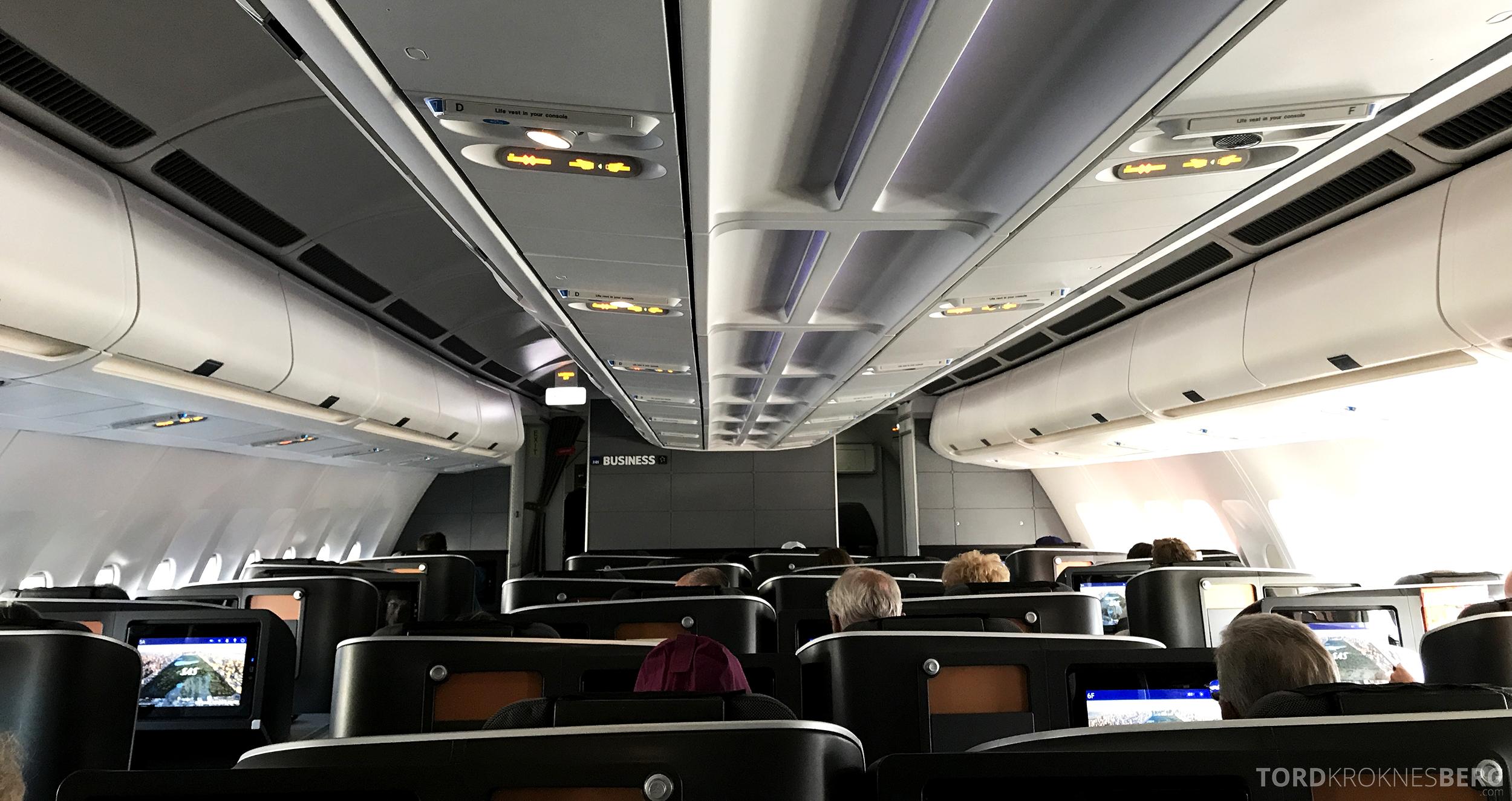 SAS Business Class San Francisco kabin