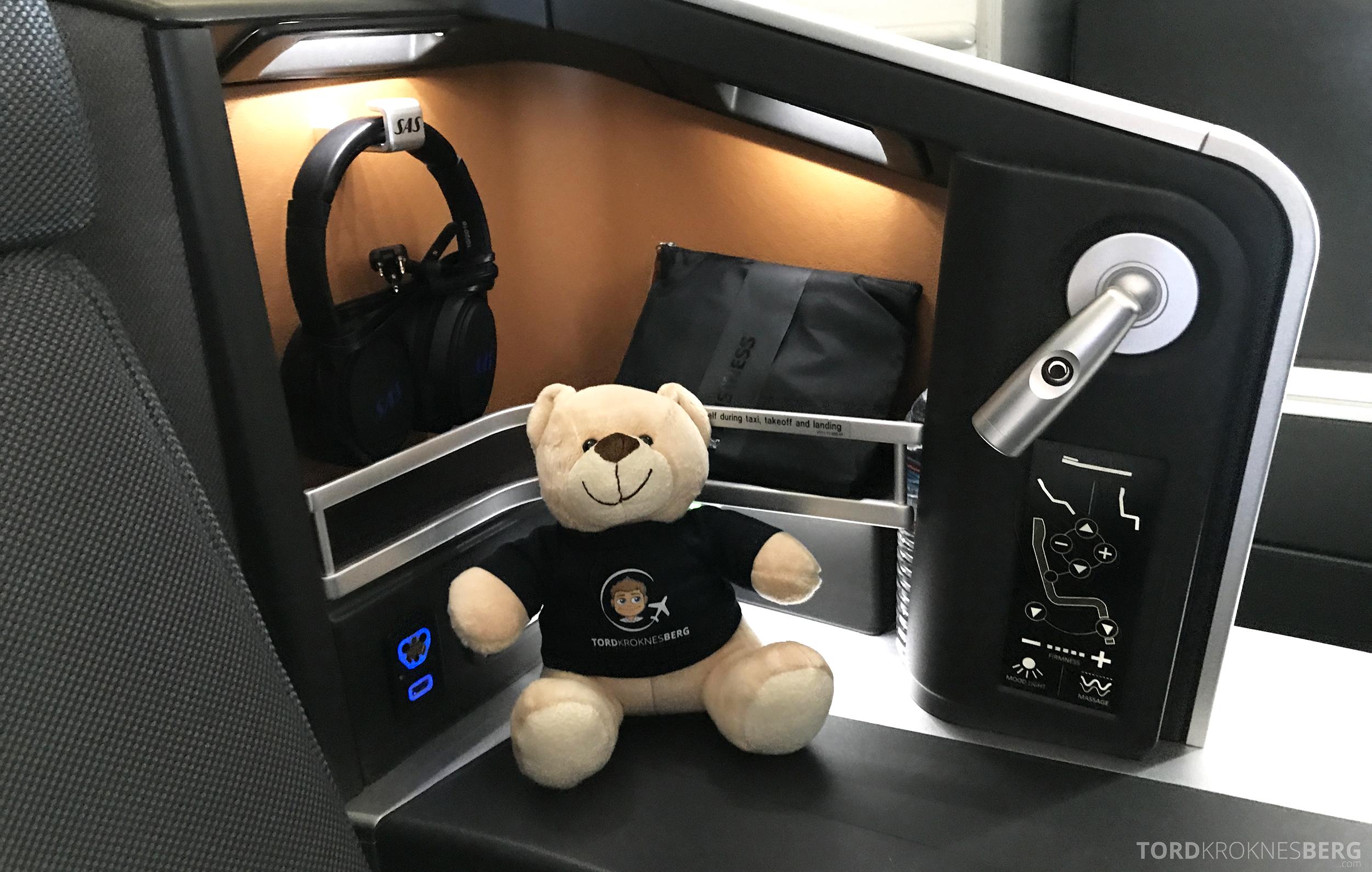 SAS Business Class San Francisco reisefølget sete