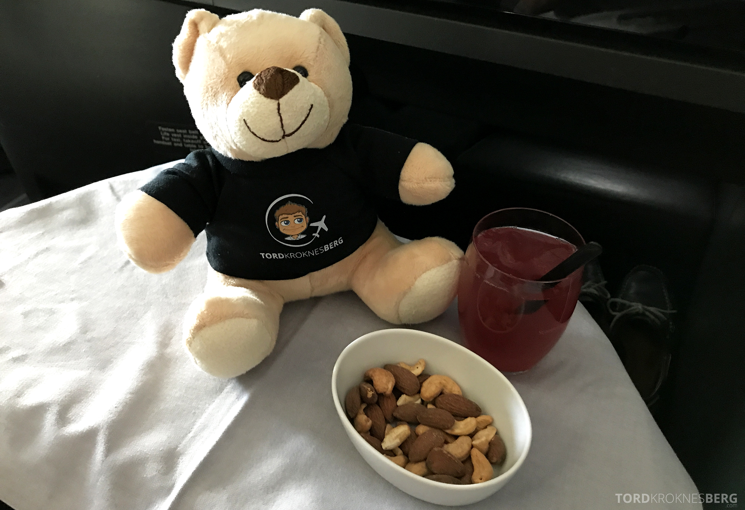 SAS Business Class San Francisco reisefølget aperitiff