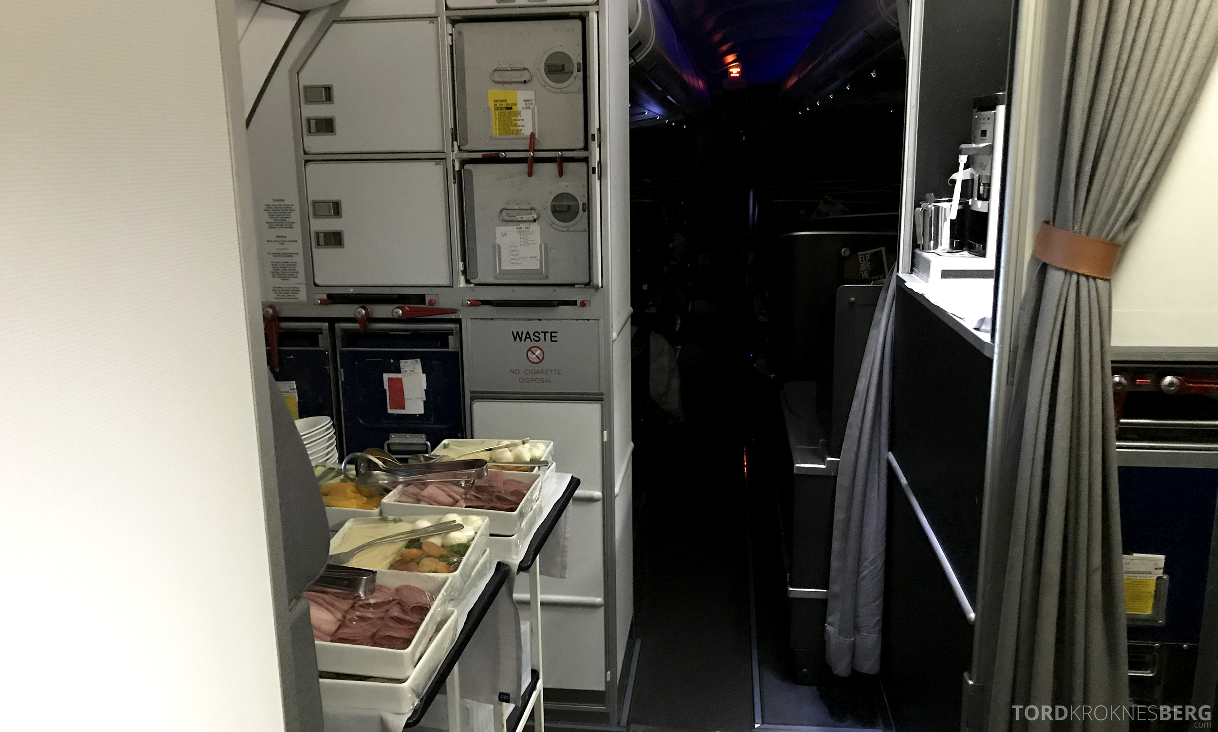 SAS Business Class San Francisco frokost forberedelse