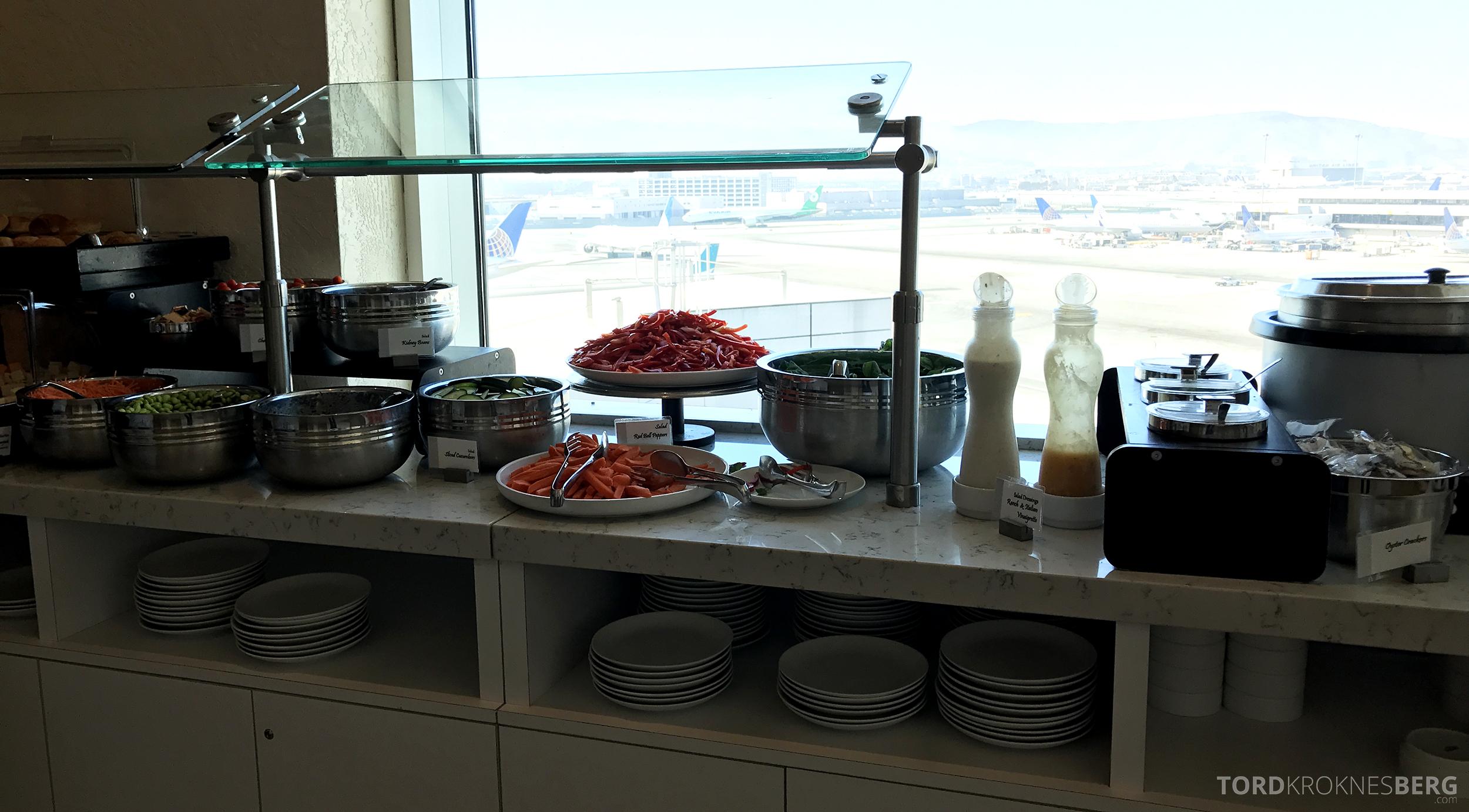 United Club Lounge San Francisco buffet