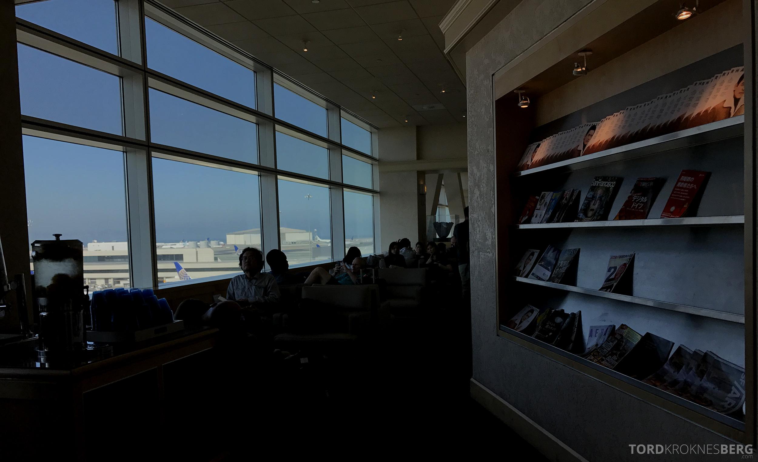 United Club Lounge San Francisco oversikt
