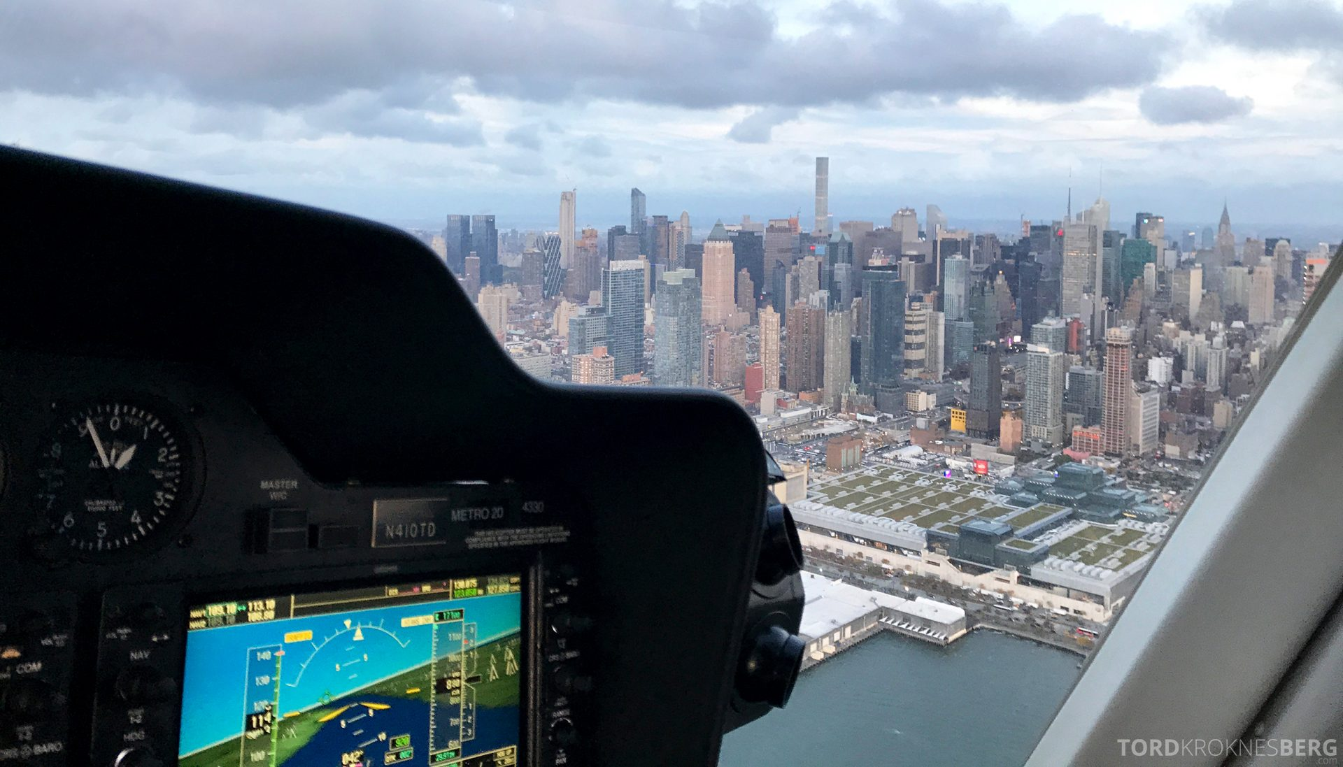 Helikopter New York cockpit