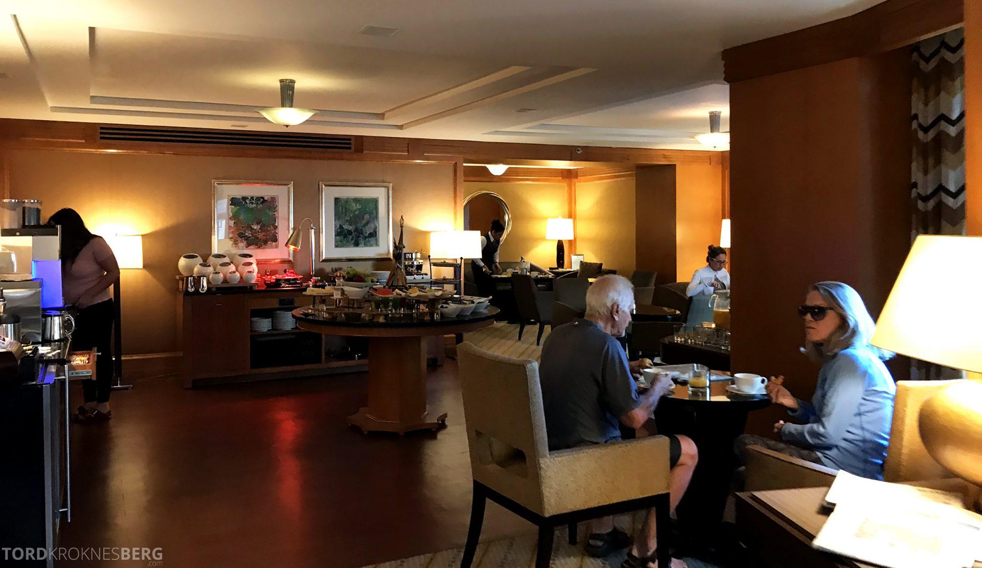 Ritz-Carlton New York Club Lounge buffet