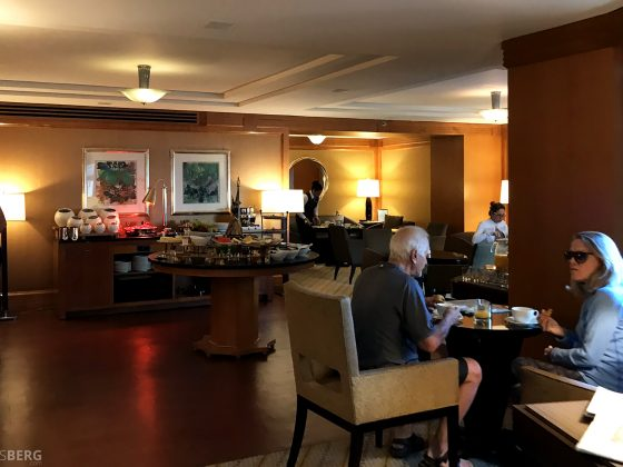Ritz-Carlton New York Club Lounge buffet