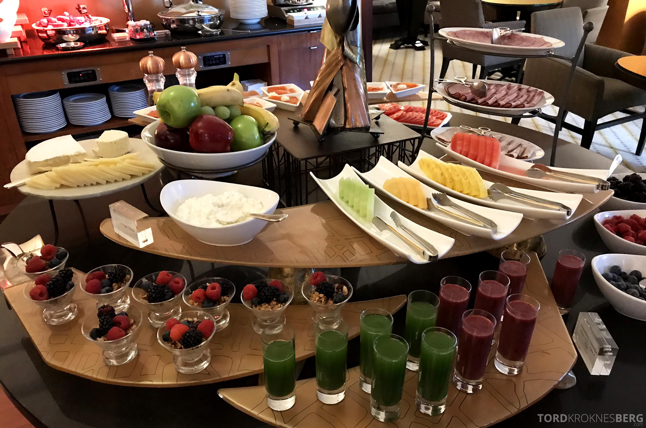 Ritz-Carlton New York Club Lounge frokost